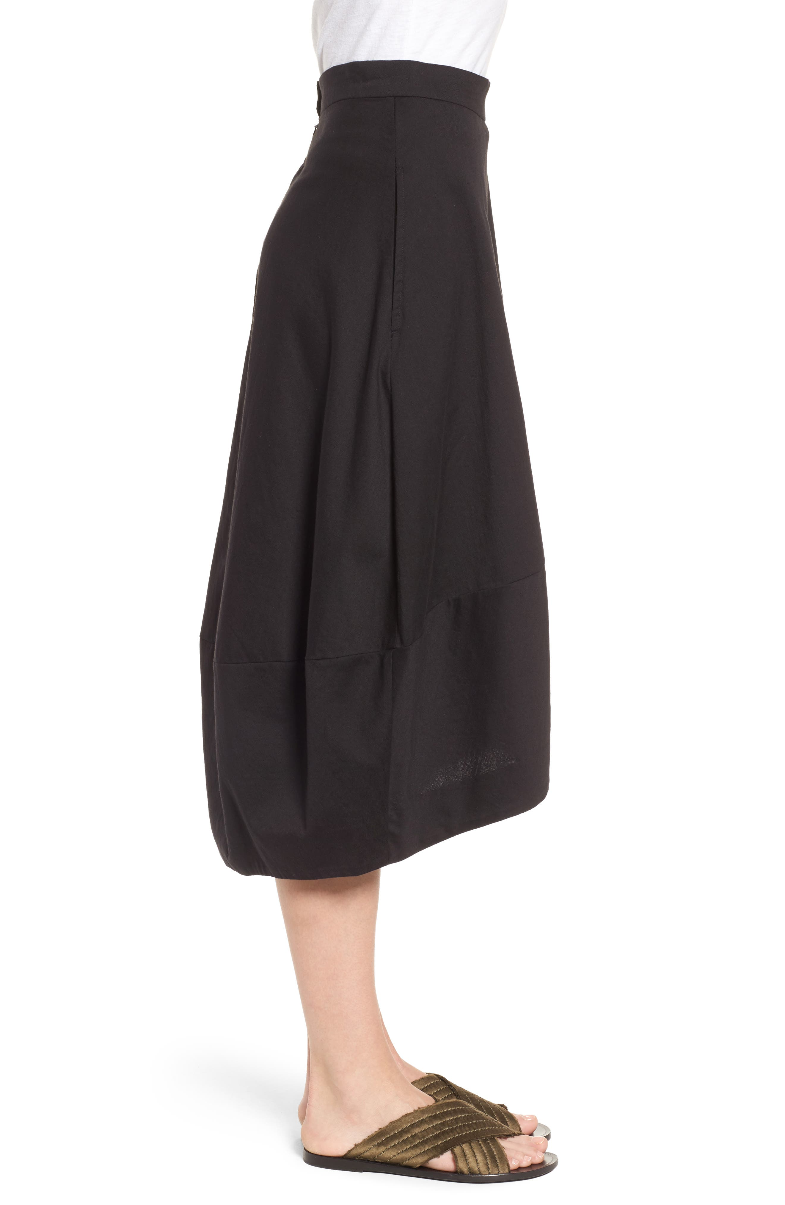 Organic Cotton Lantern Skirt,                             Alternate thumbnail 3, color,                             001