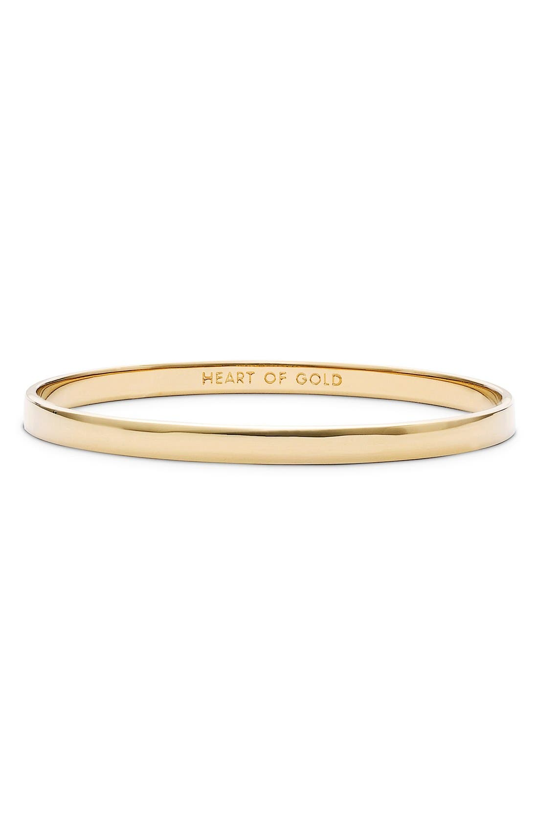 'idiom - heart of gold' bangle,                         Main,                         color, GOLD