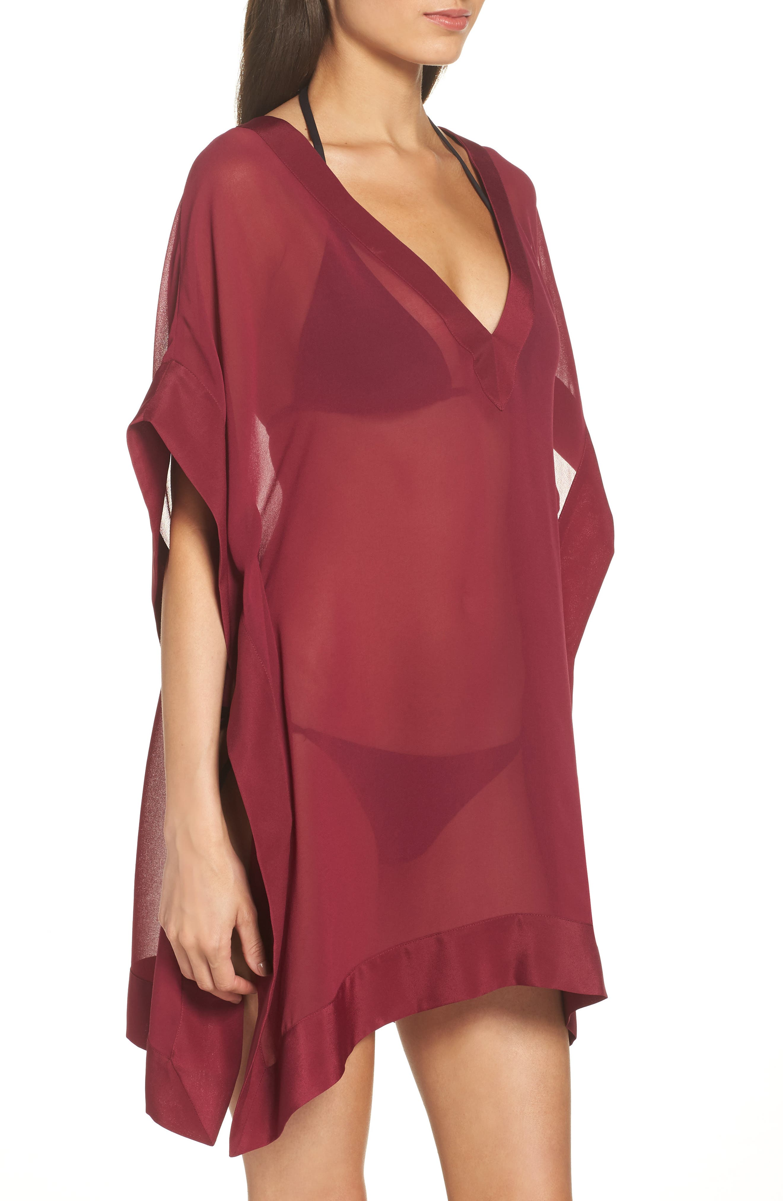 Holical Cover-Up Tunic,                             Alternate thumbnail 3, color,                             DEEP PINK
