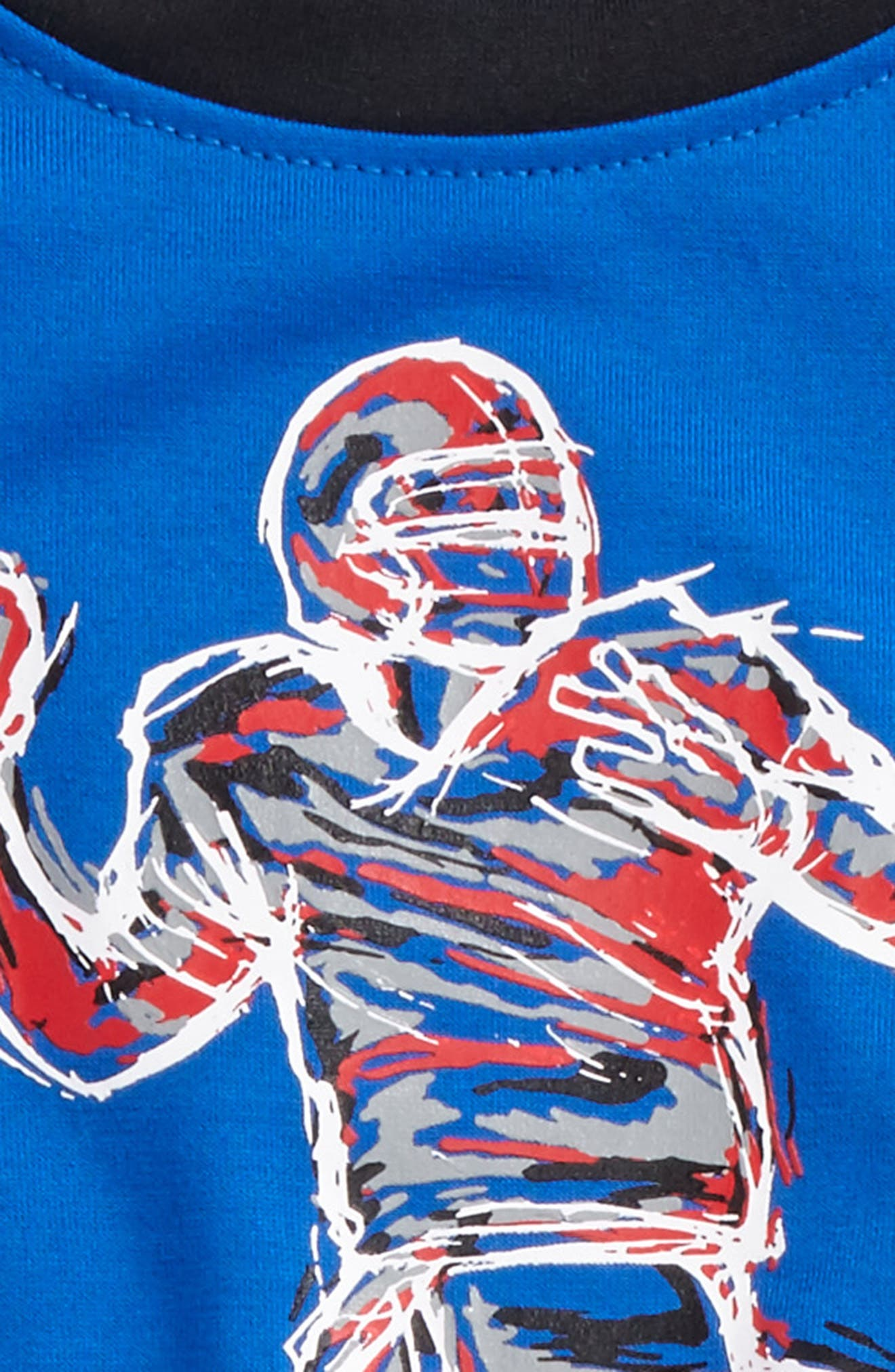 Illuminated QB Raglan T-Shirt & Sweatpants,                             Alternate thumbnail 2, color,                             410