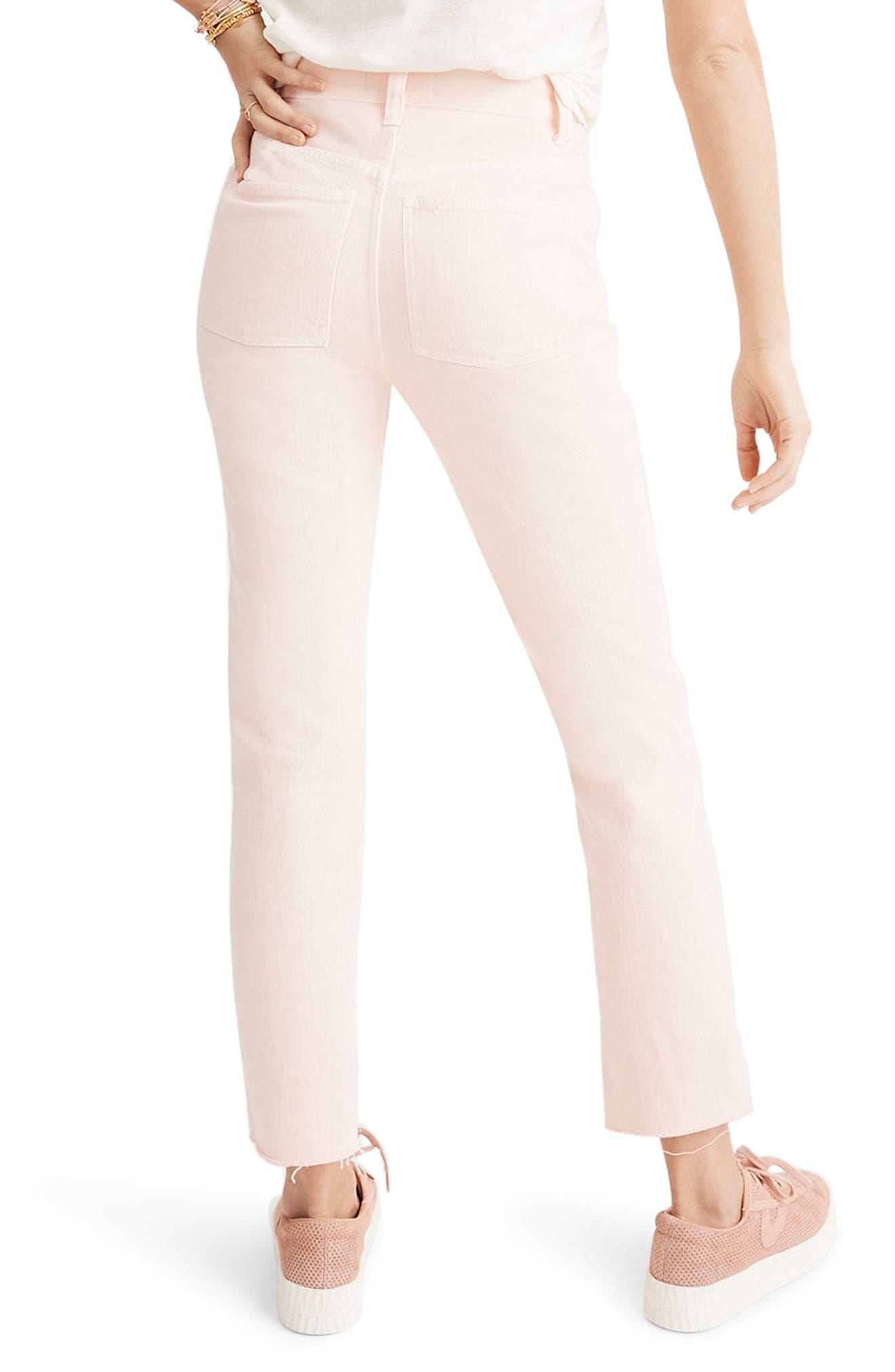 Garment Dyed High Waist Straight Leg Jeans,                             Alternate thumbnail 2, color,                             650