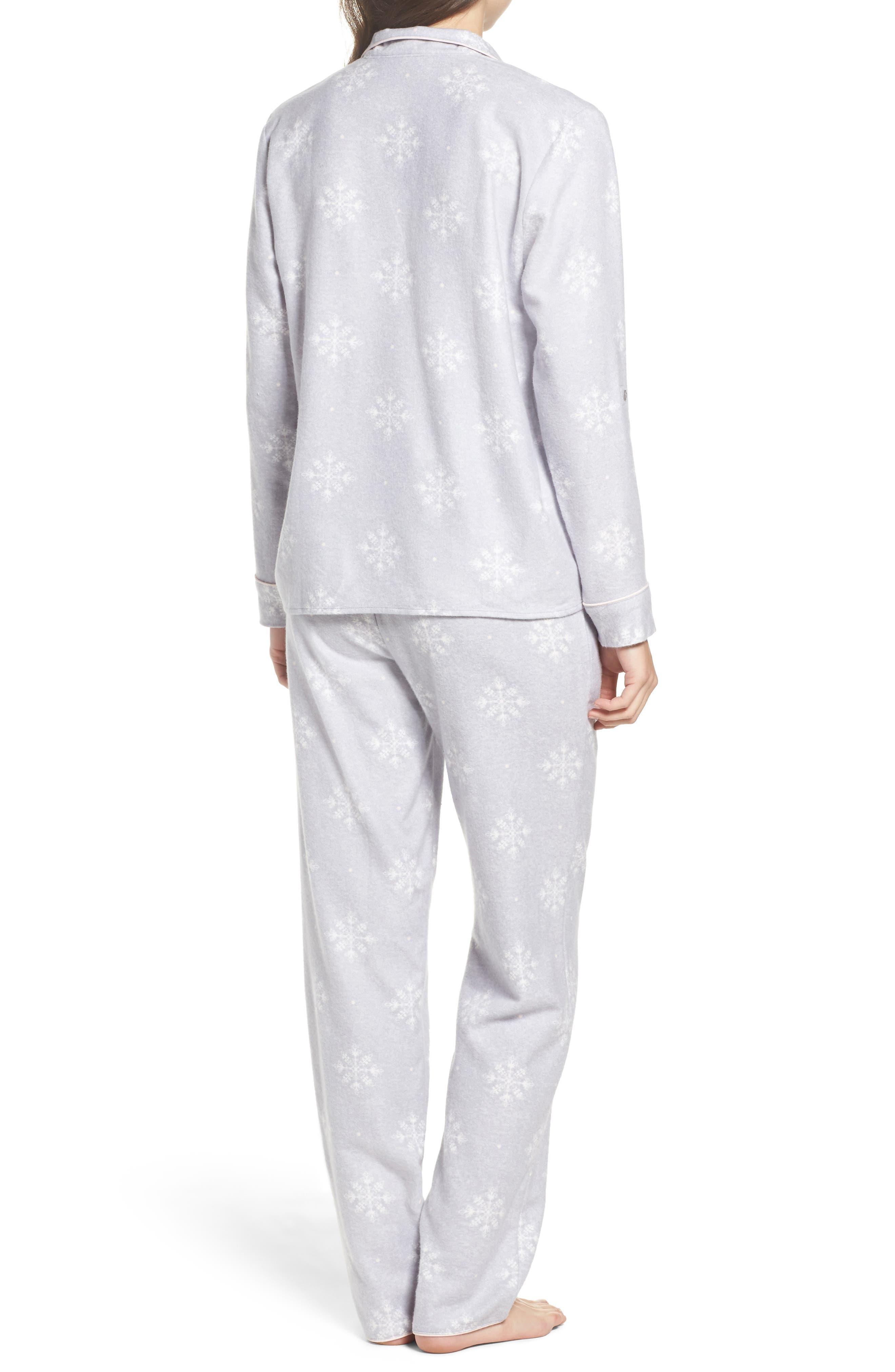 Lingerie Starlight Flannel Pajamas,                             Alternate thumbnail 6, color,