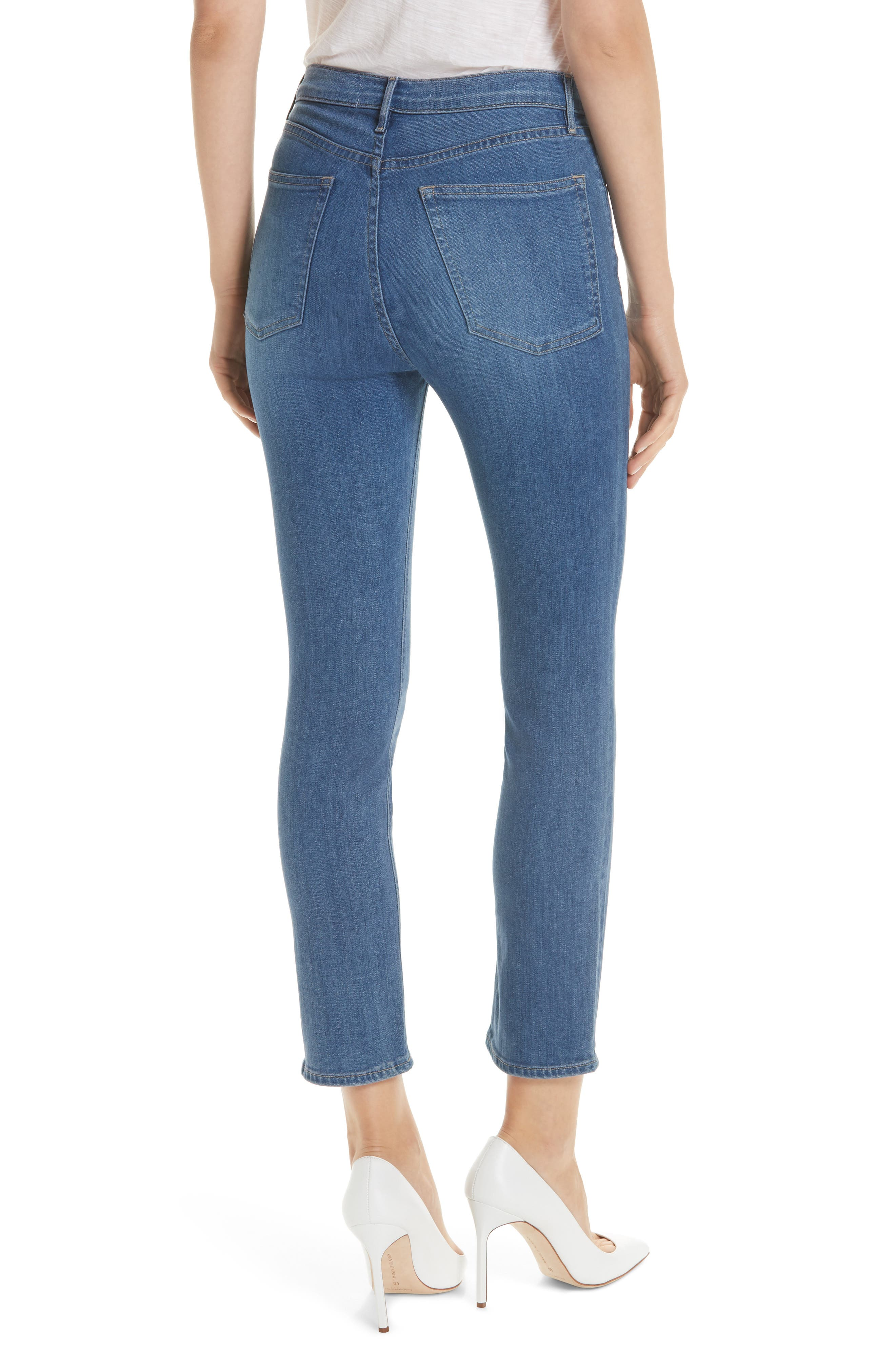 W4 Colette Crop Skinny Jeans,                             Alternate thumbnail 2, color,                             MILLY