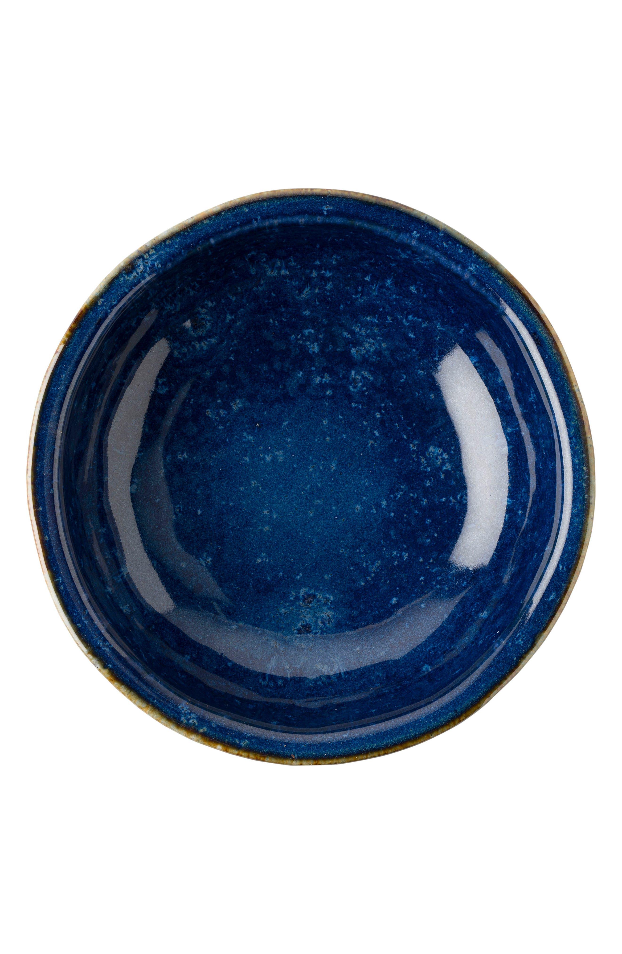 Puro Cobalt Ceramic Coupe Bowl,                             Alternate thumbnail 2, color,                             DAPPLED COBALT