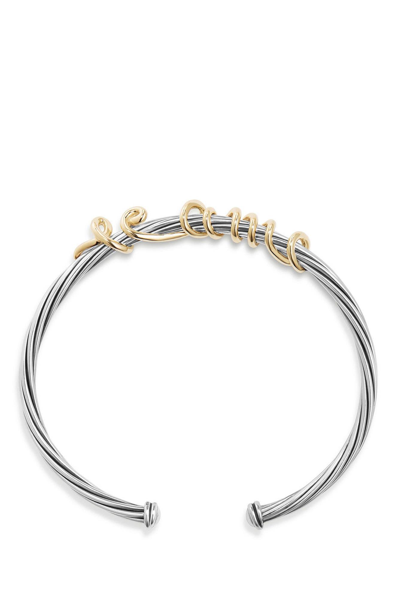 Whispers Te Amo Bracelet,                             Alternate thumbnail 2, color,                             SILVER/ GOLD