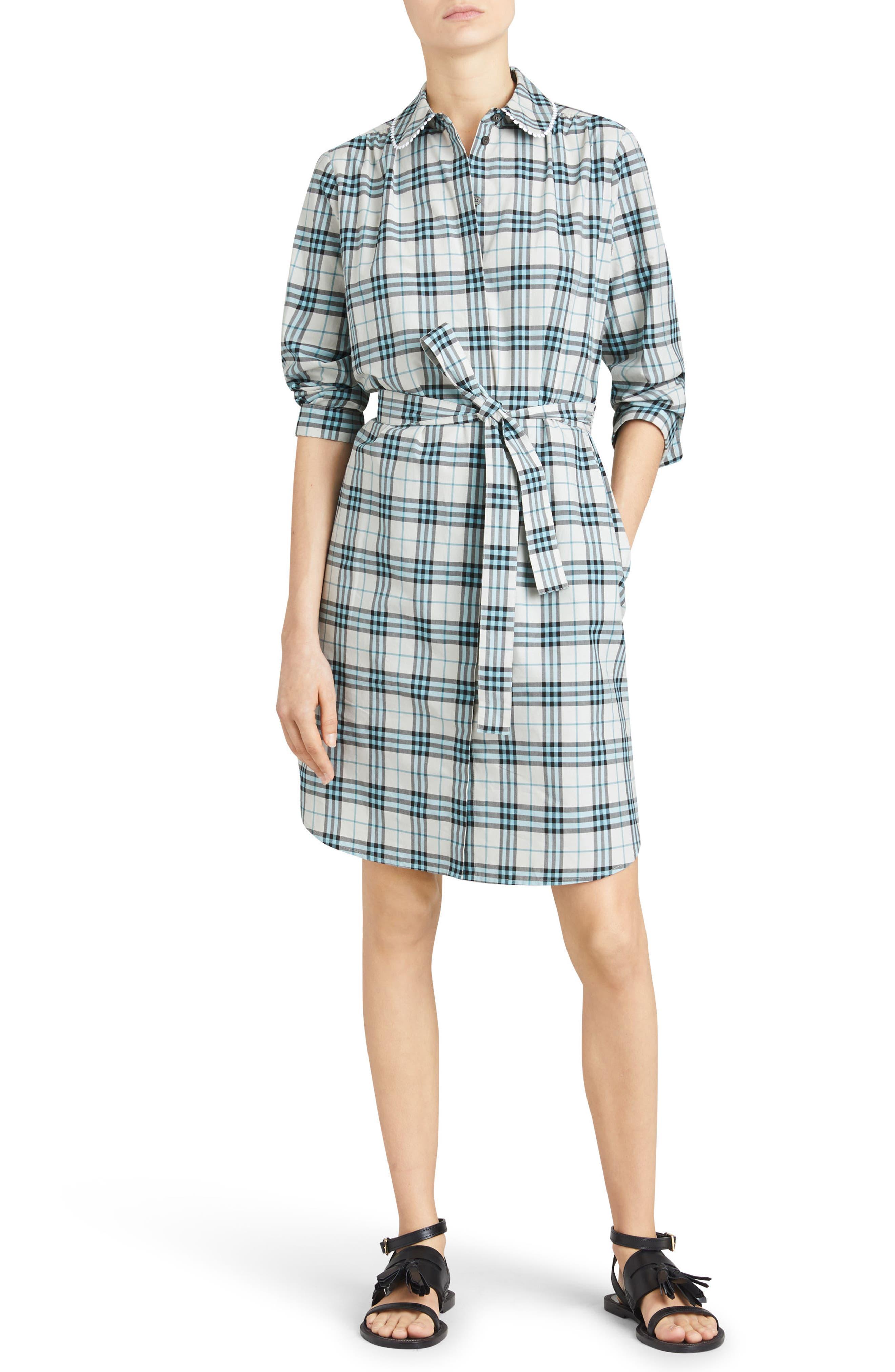 Agna Check Shirtdress,                         Main,                         color, 275