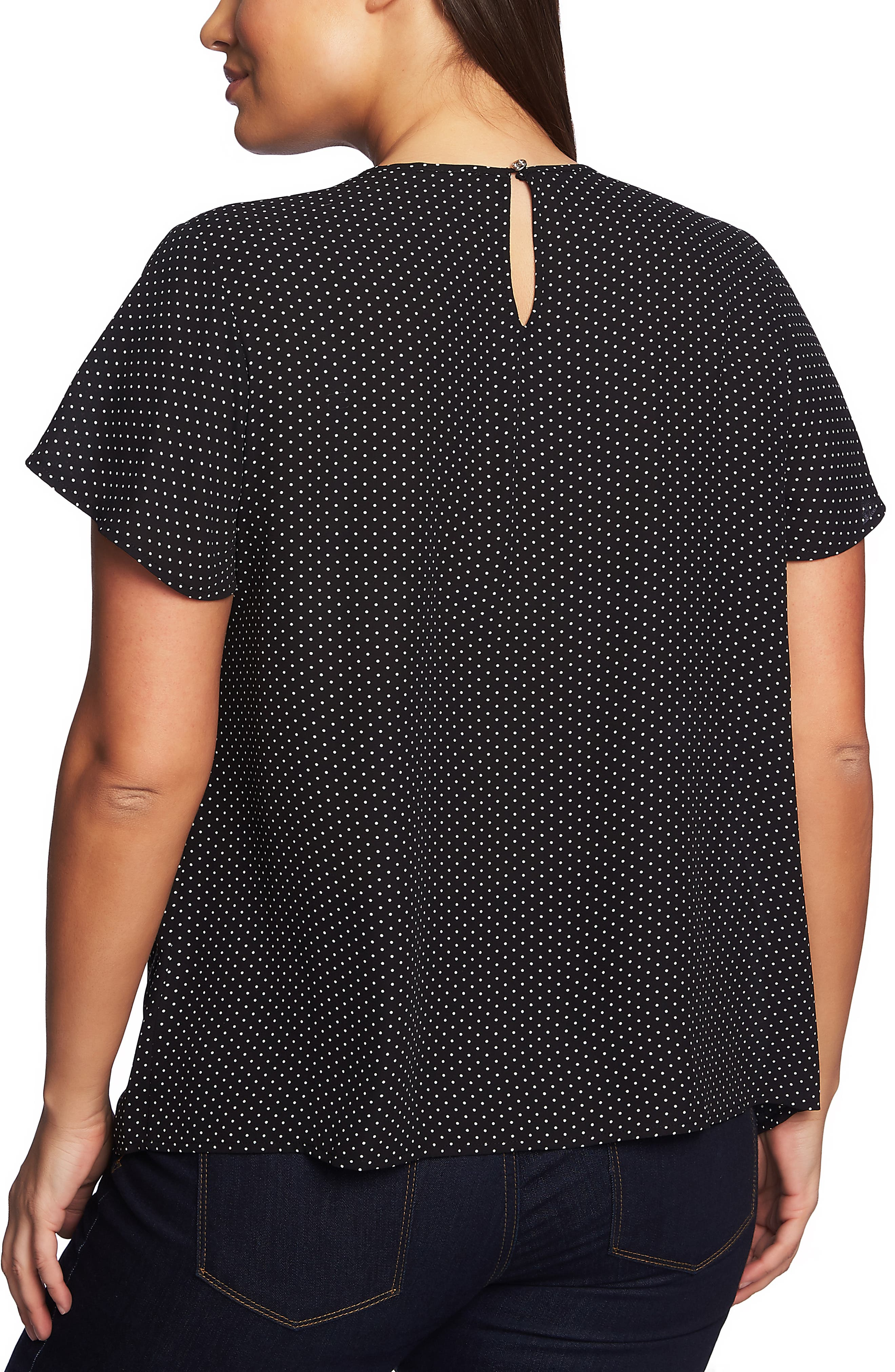Refined Pindot Pintuck Blouse,                             Alternate thumbnail 2, color,                             001