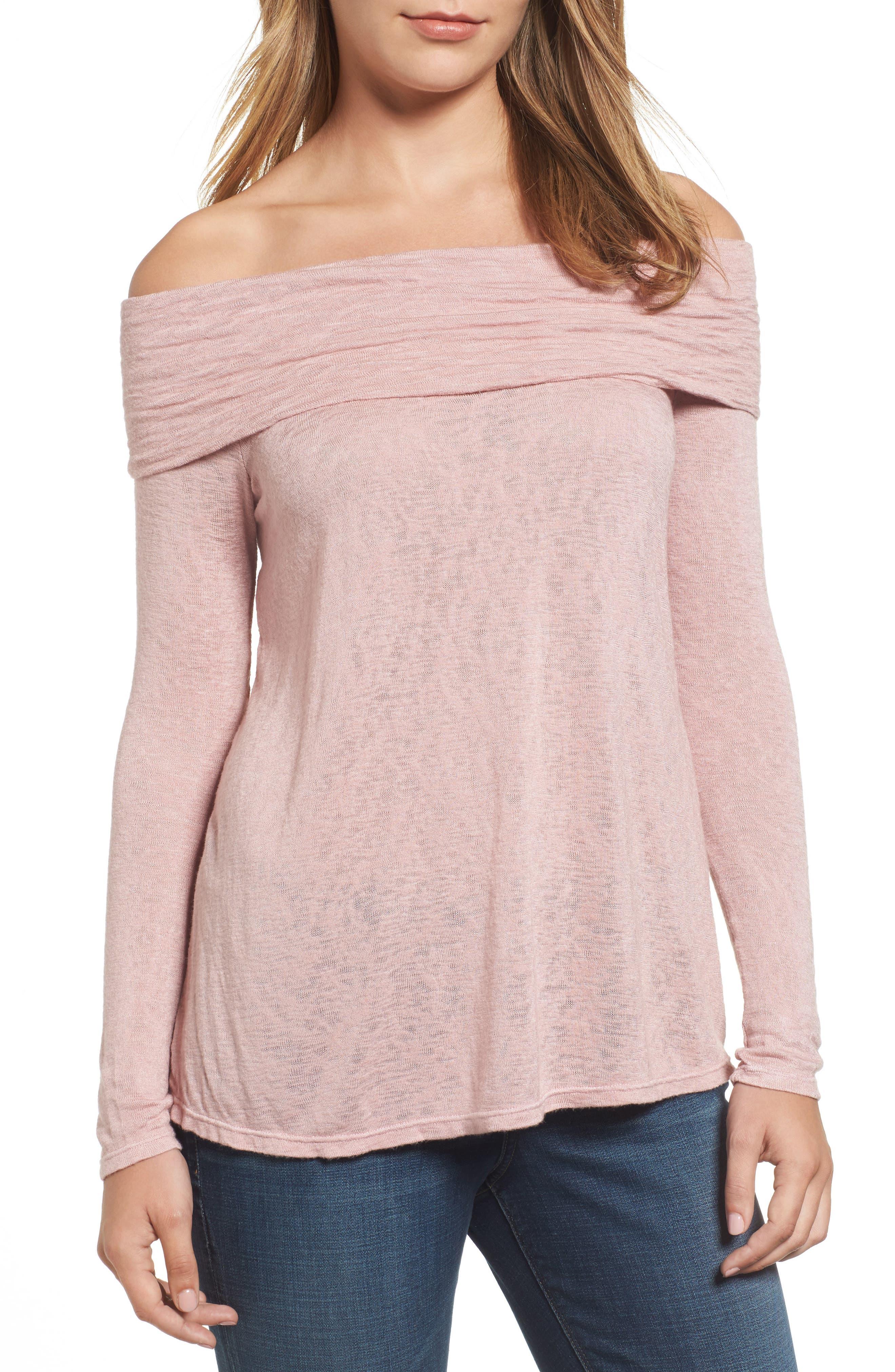 Off the Shoulder Knit Top,                         Main,                         color, 667