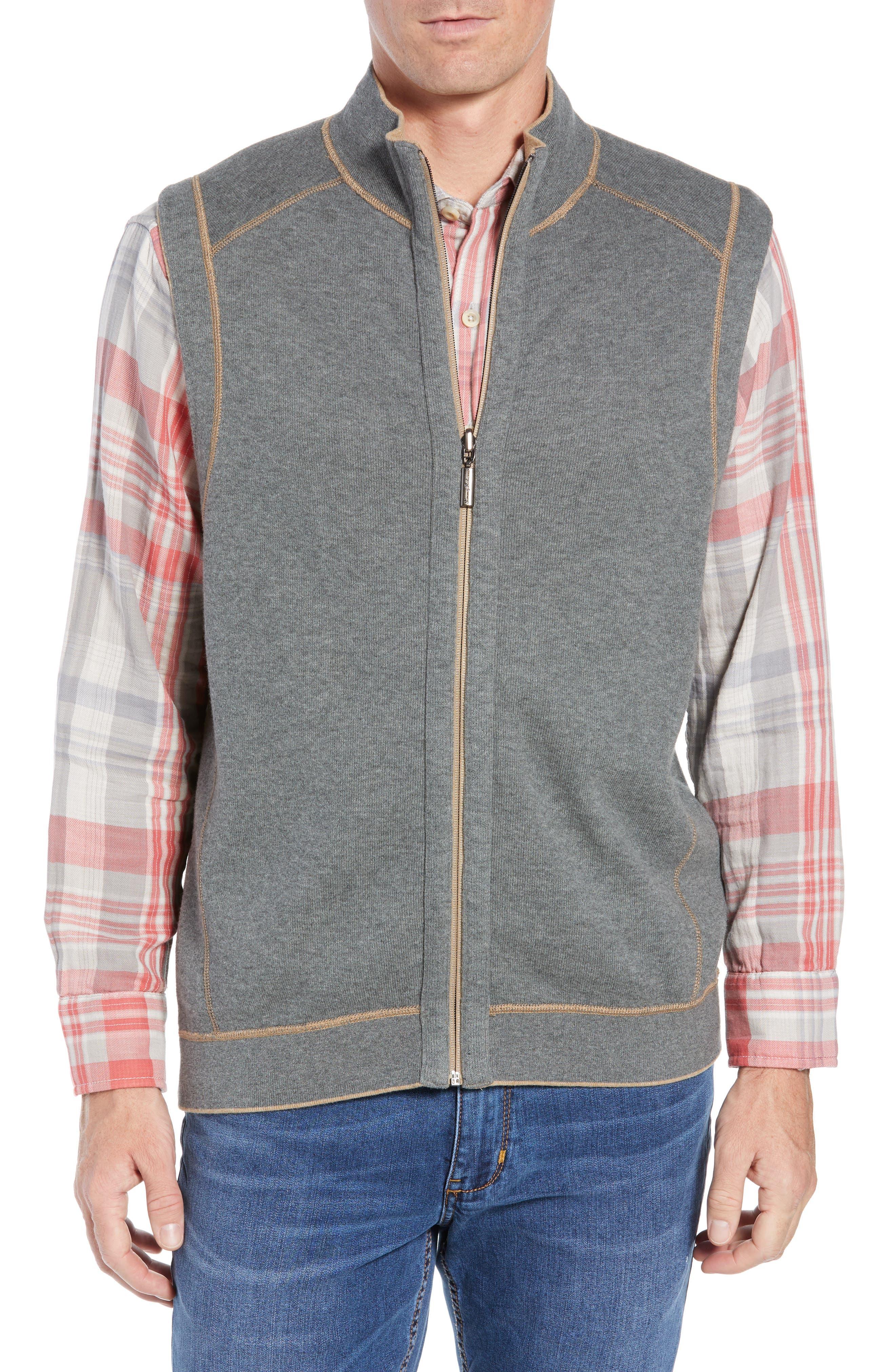 Flip Side Reversible Zip Vest,                             Alternate thumbnail 2, color,                             GOLDEN HONEY HEATHER