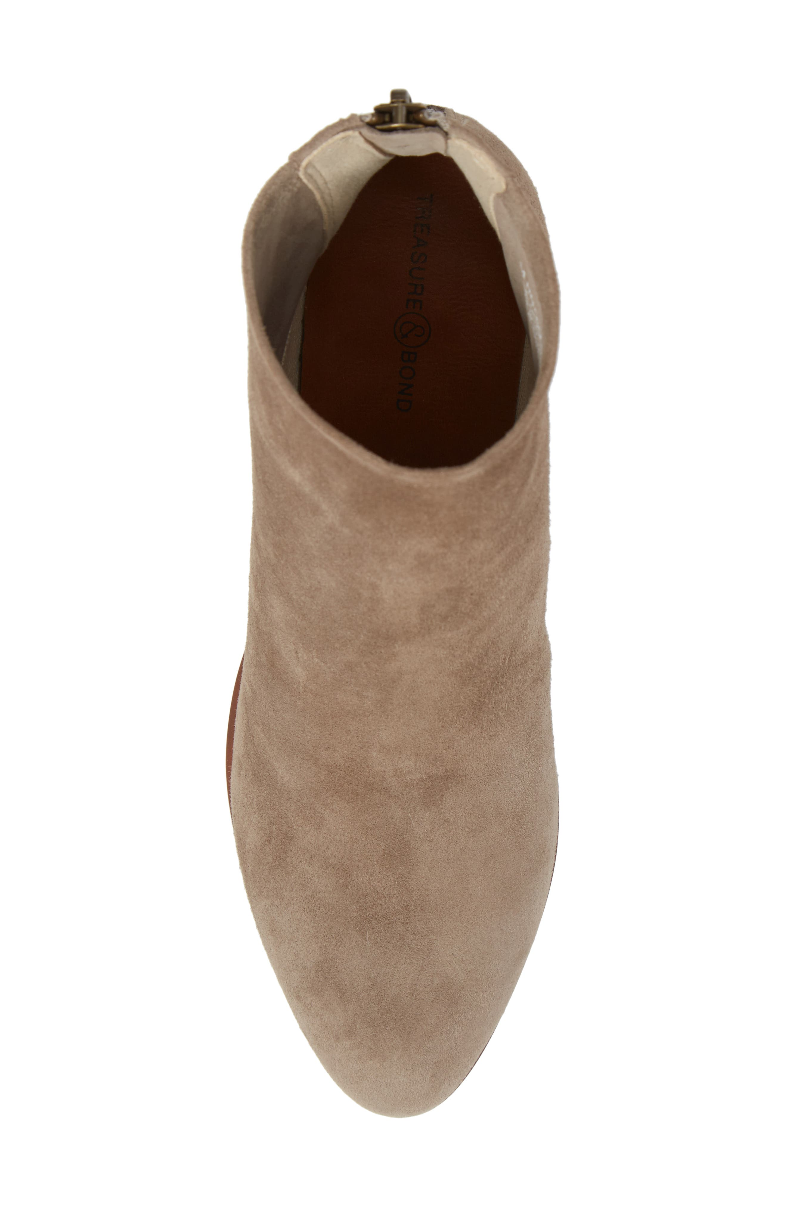 Tawny Bootie,                             Alternate thumbnail 5, color,                             GREY SUEDE