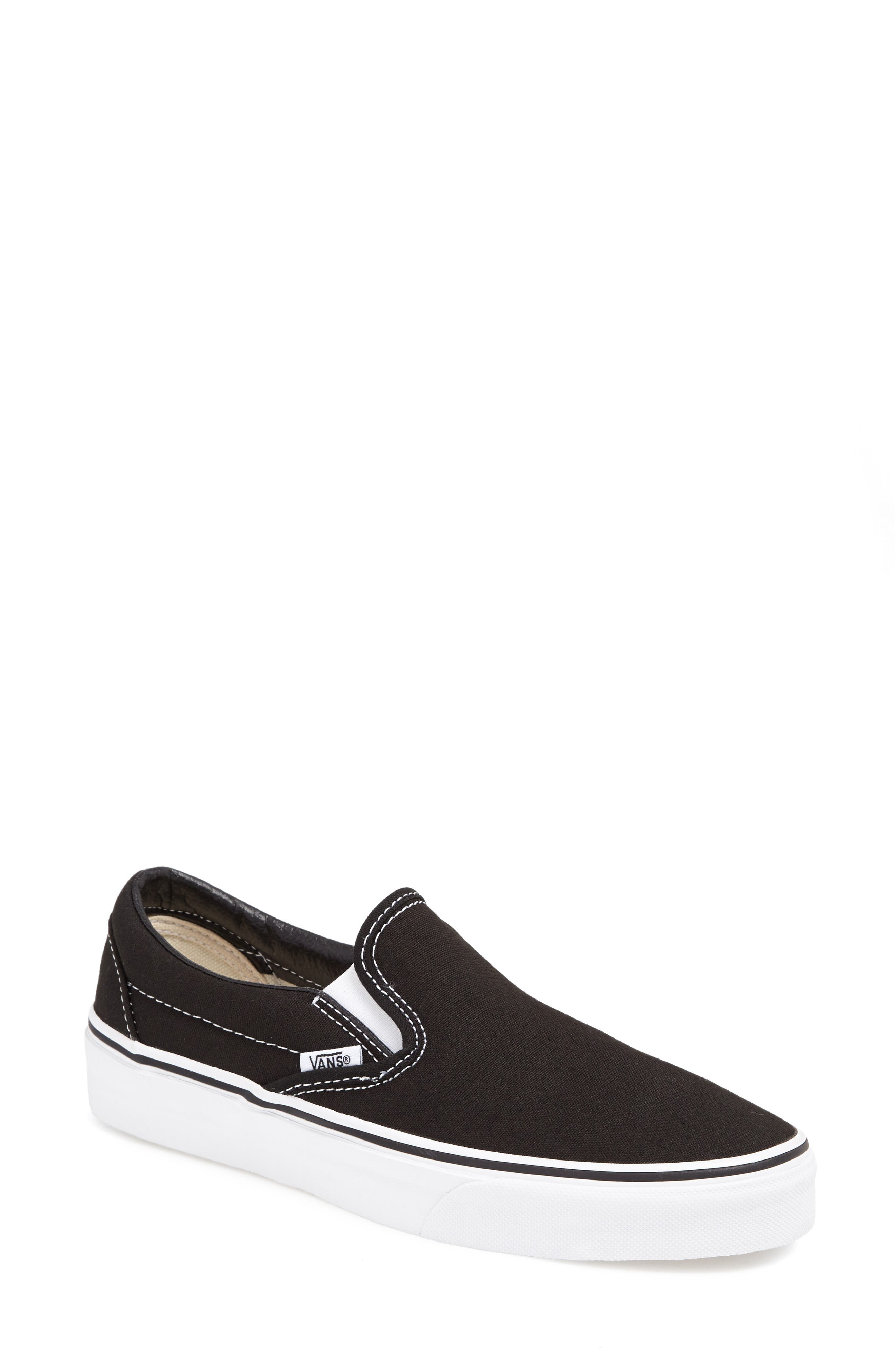 Classic Slip-On Sneaker,                             Main thumbnail 1, color,                             BLACK