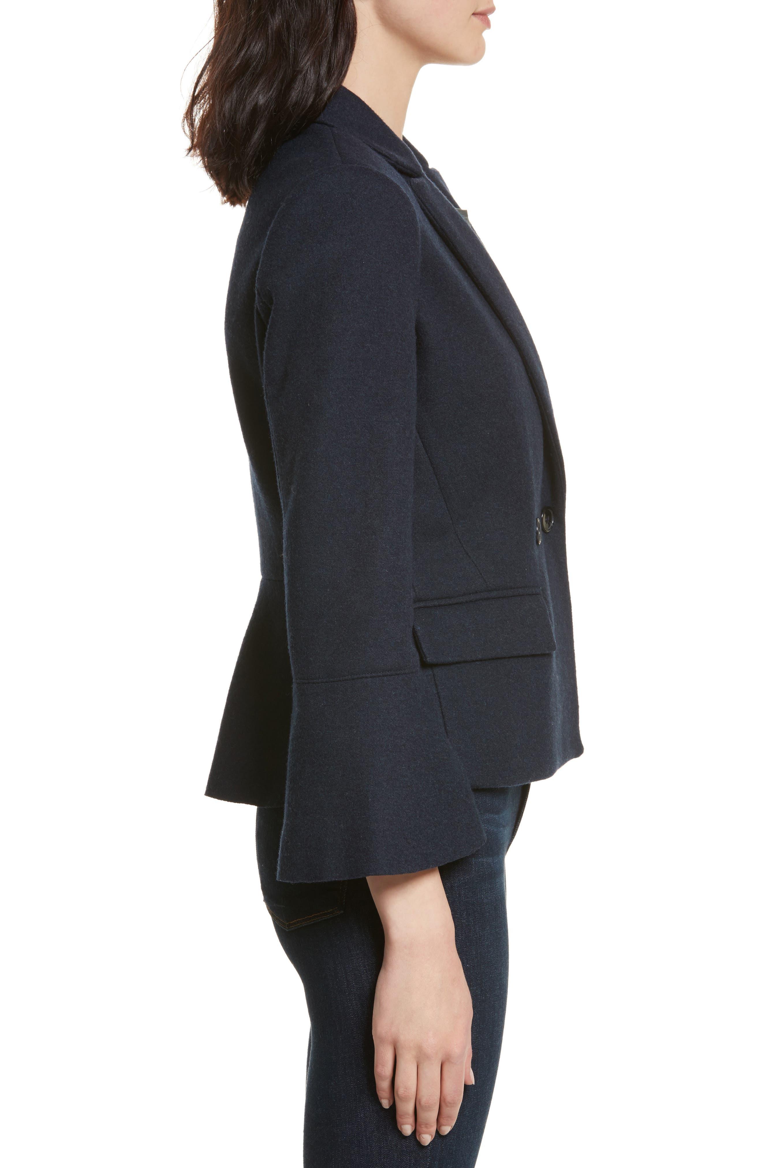 Aeolia Bell Sleeve Jacket,                             Alternate thumbnail 3, color,                             418