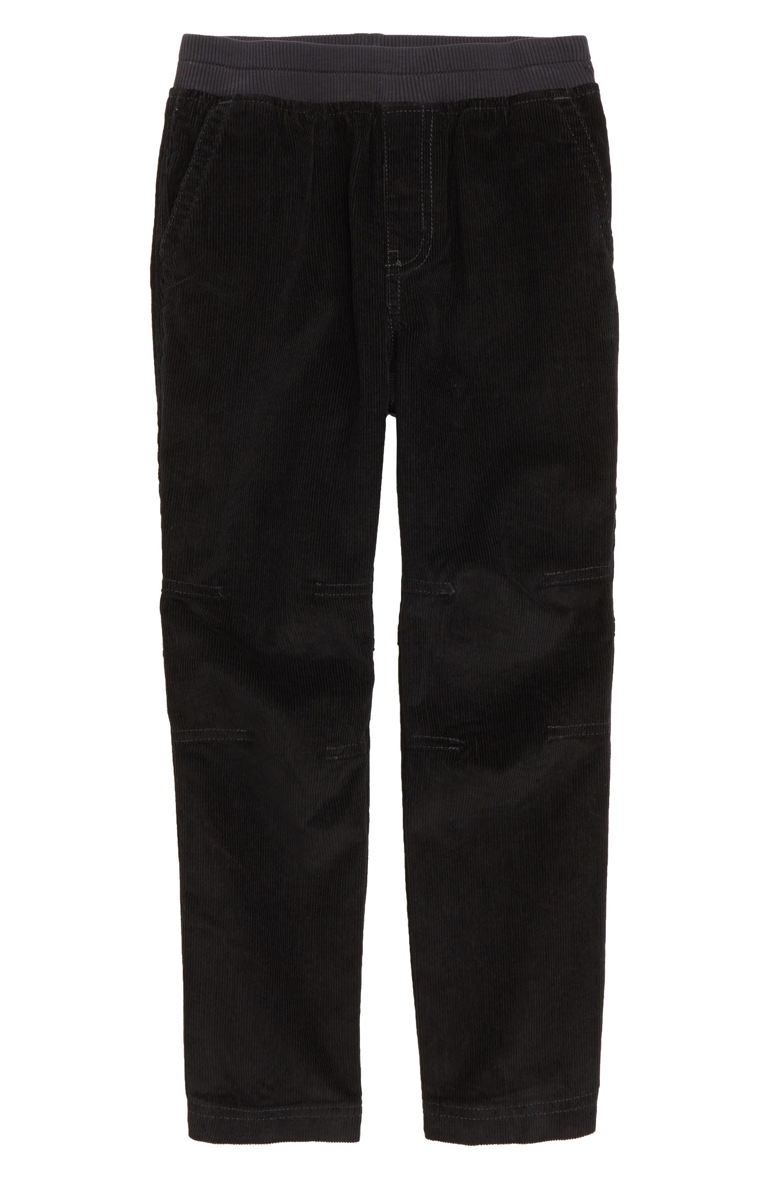 Easy Corduroy Pants,                         Main,                         color, JET BLACK