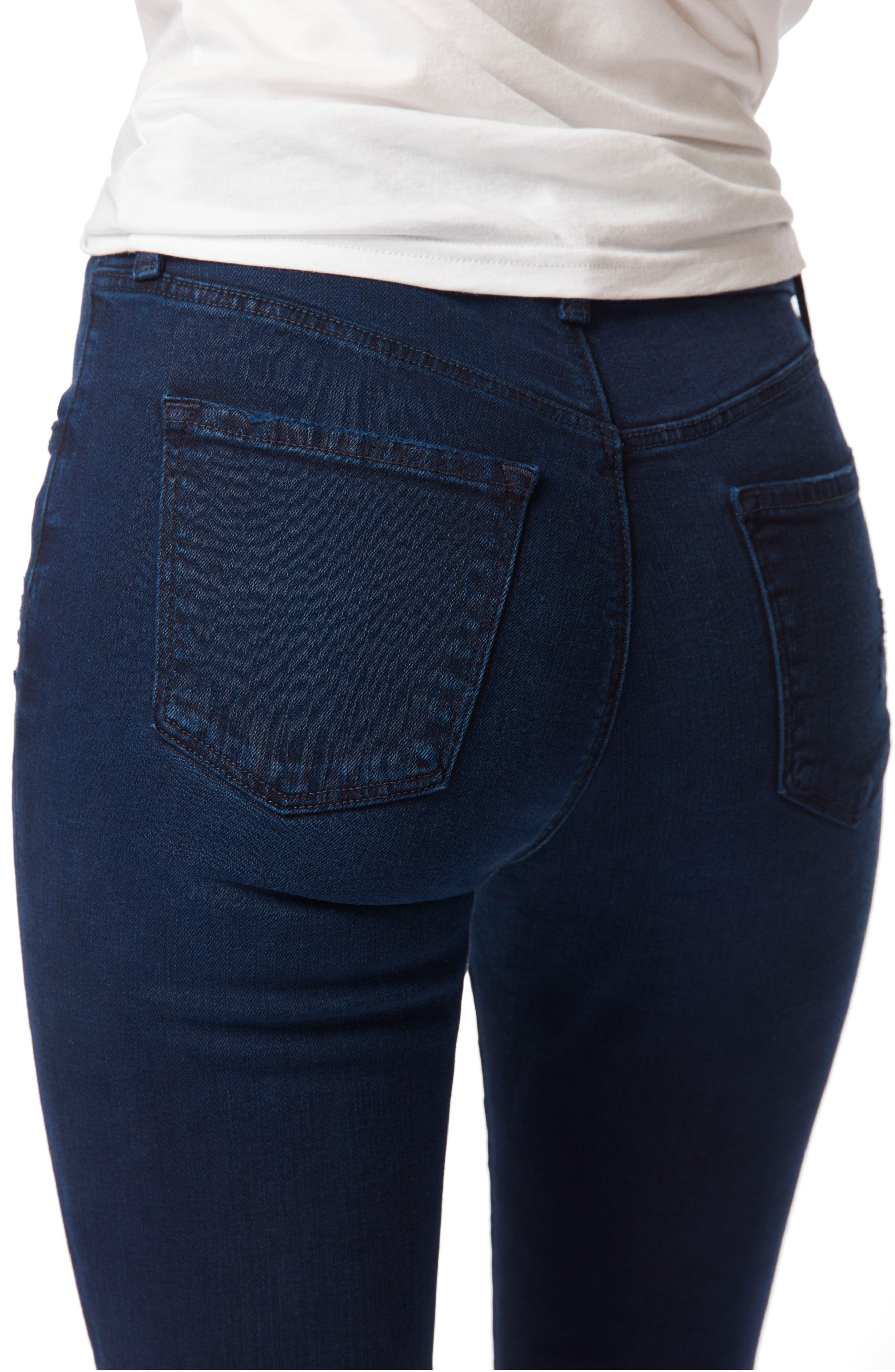 Alana Released Hem High Rise Crop Skinny Jeans,                             Alternate thumbnail 4, color,                             INVOKE DESTRUCT