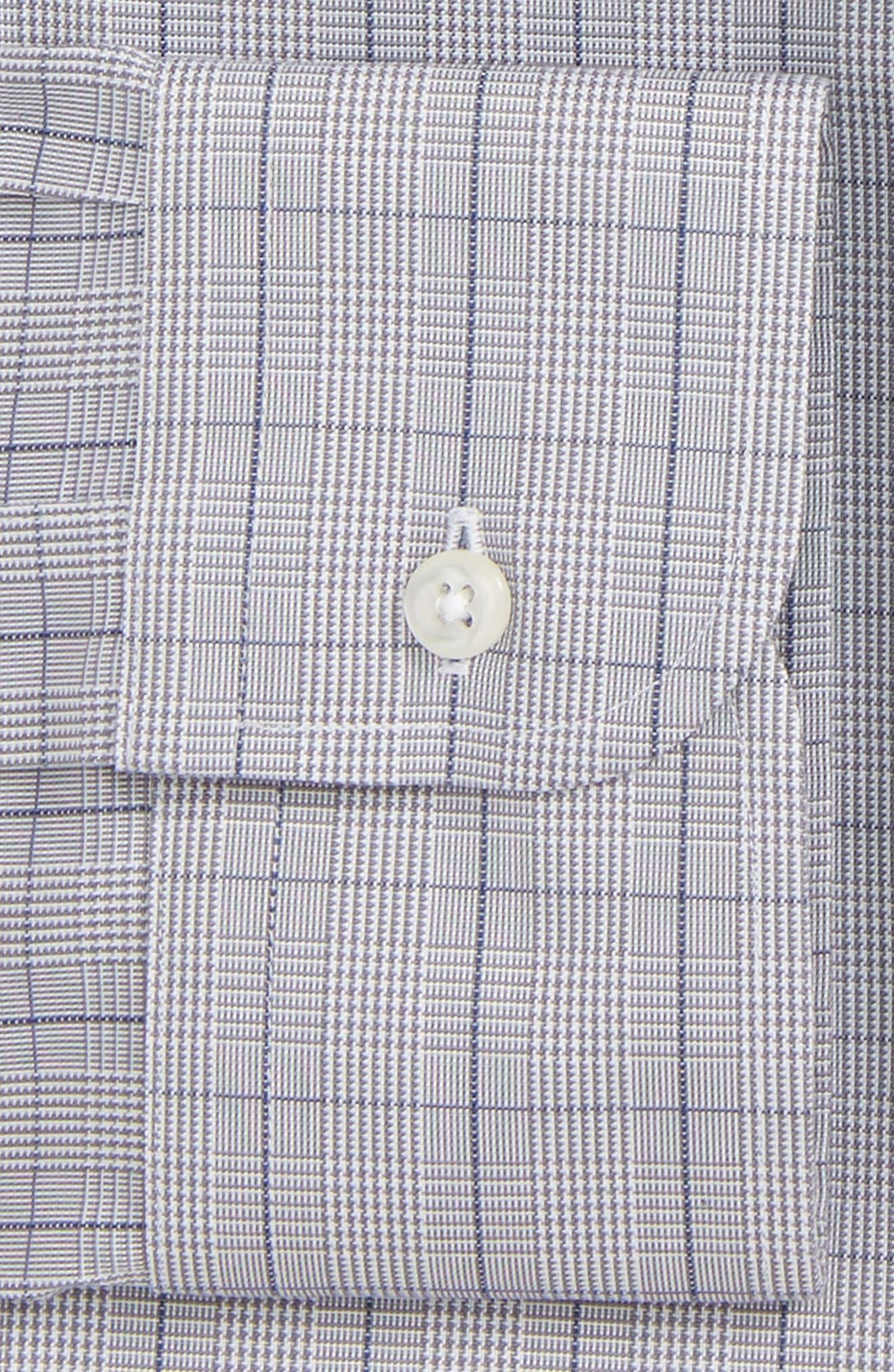 Smartcare<sup>™</sup> Classic Fit Windowpane Dress Shirt,                             Alternate thumbnail 3, color,