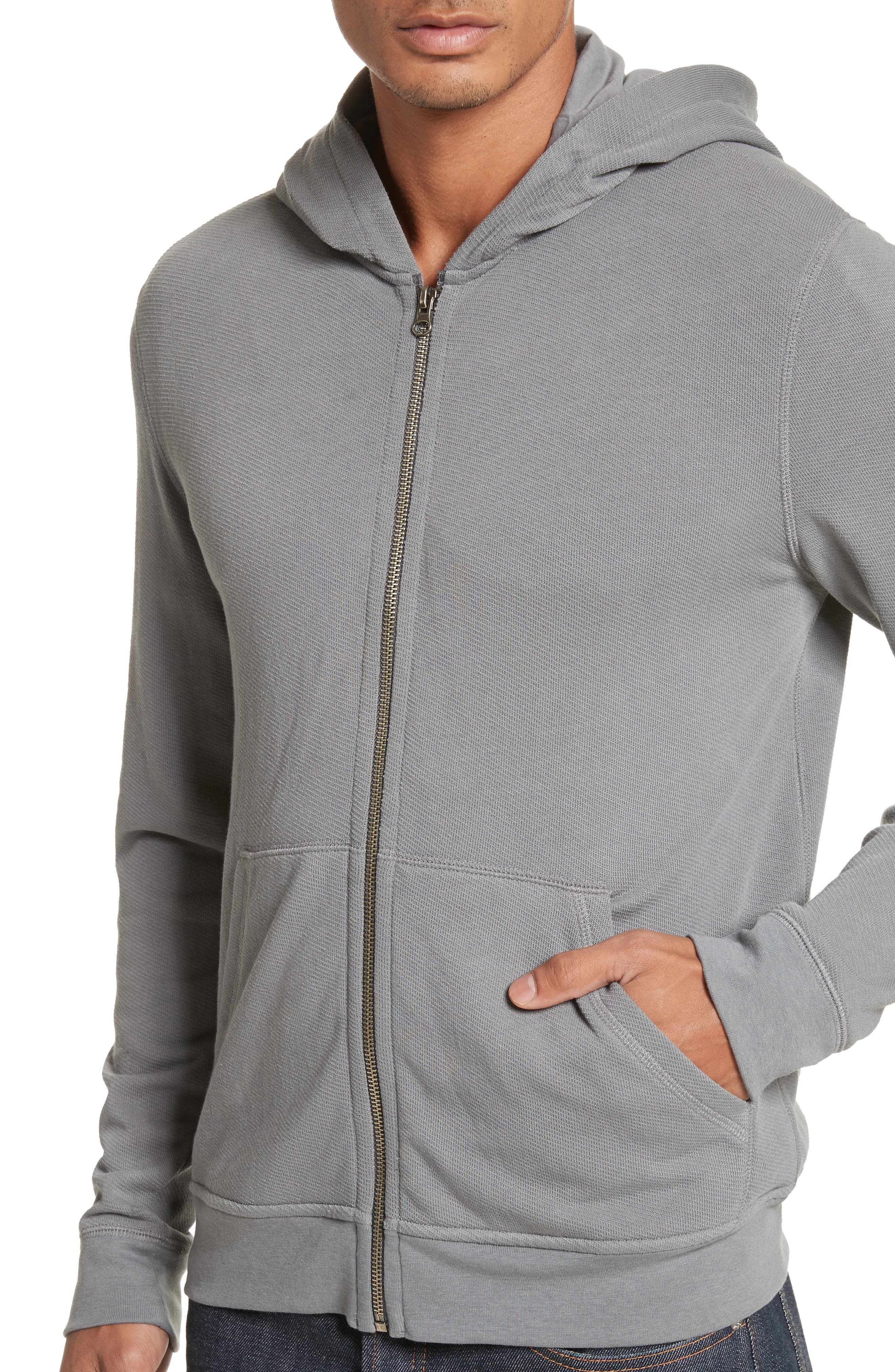 French Terry Zip Hoodie,                             Alternate thumbnail 4, color,                             024