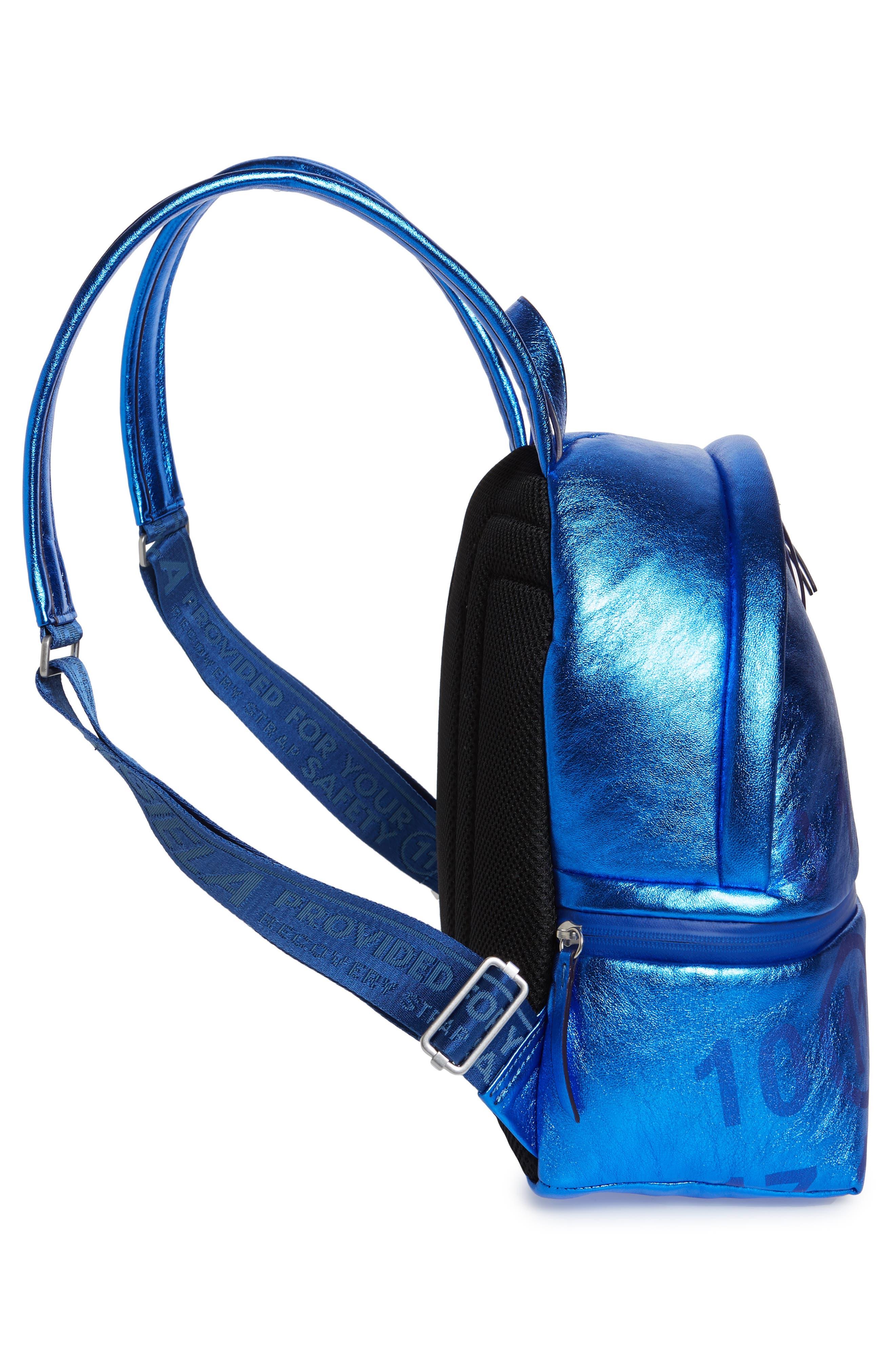 MAISON MARGIELA,                             Medium Number Print Backpack,                             Alternate thumbnail 5, color,                             DAZZLING BLUE