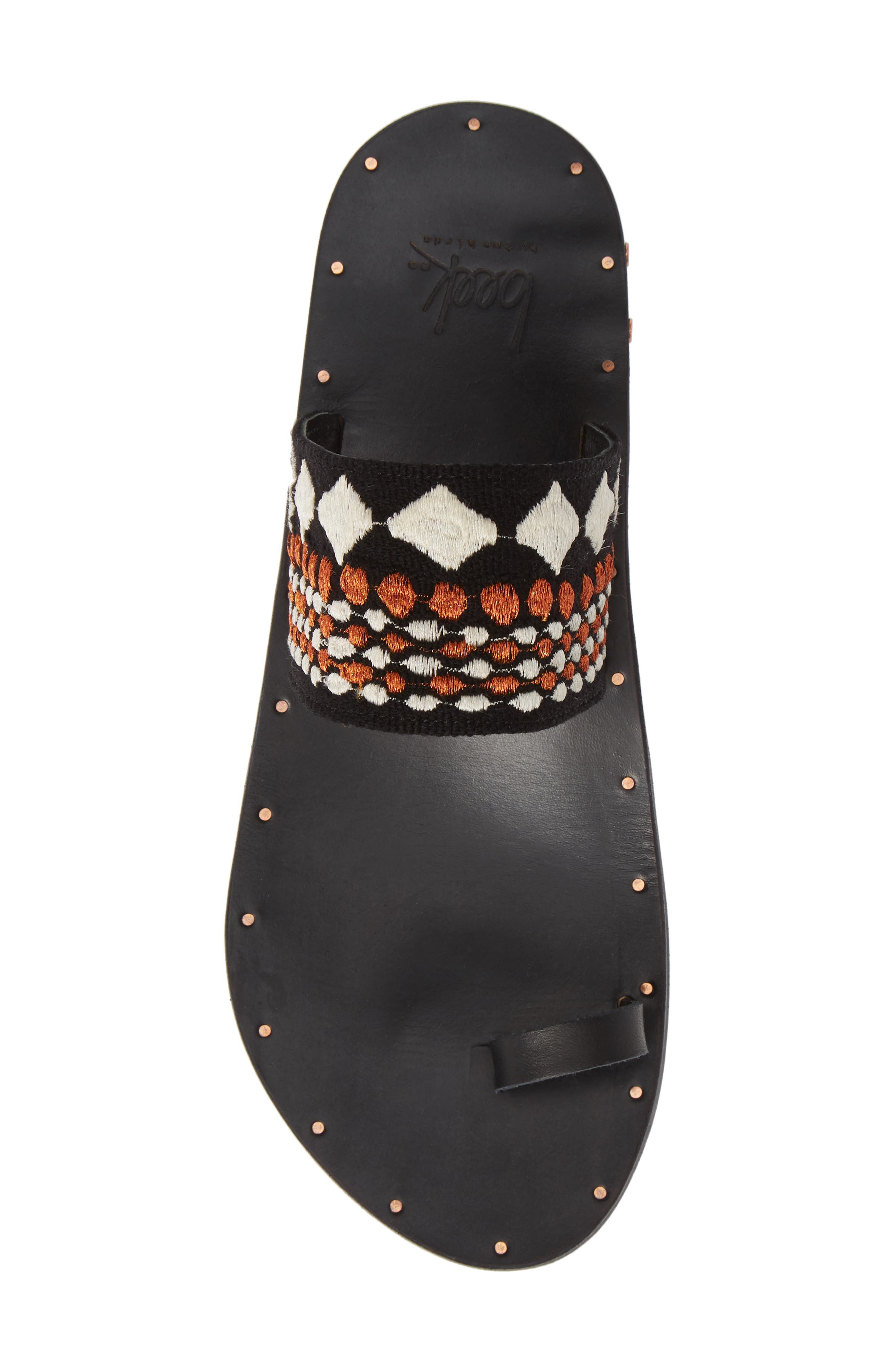 Dove Sandal,                             Alternate thumbnail 5, color,                             BLACK/ COPPER/ BLACK