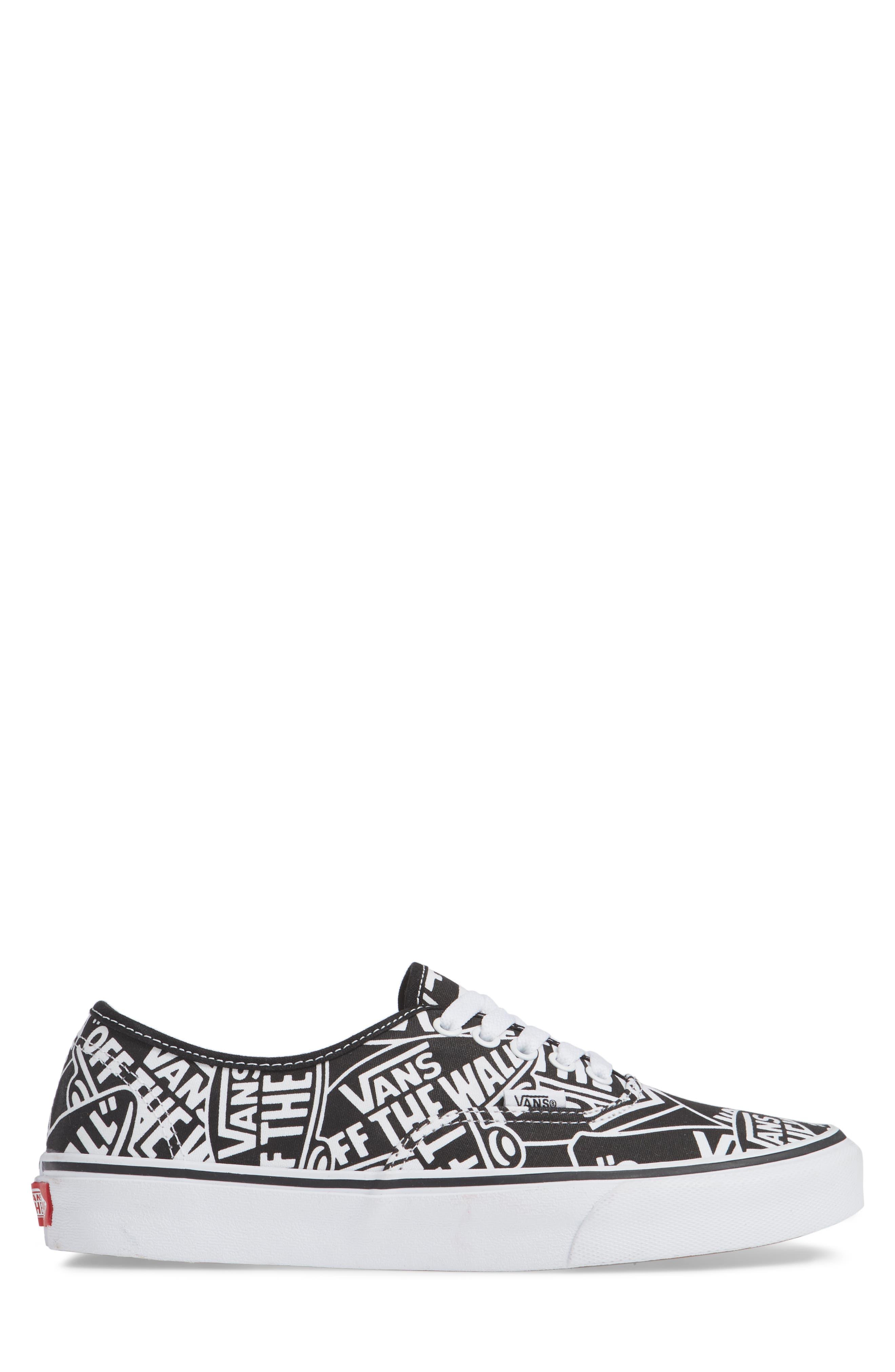 Authentic Sneaker,                             Alternate thumbnail 3, color,                             BLACK/ WHITE