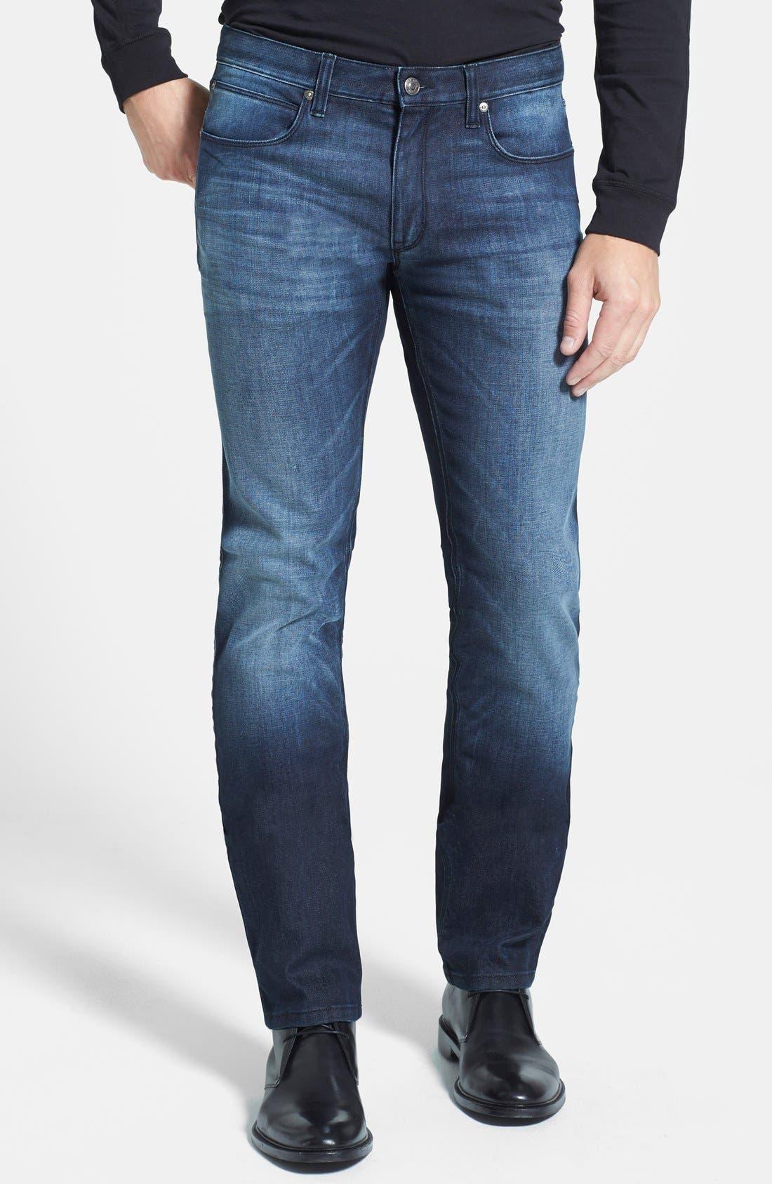 HUGO '708' Slim Fit Jeans,                             Main thumbnail 2, color,
