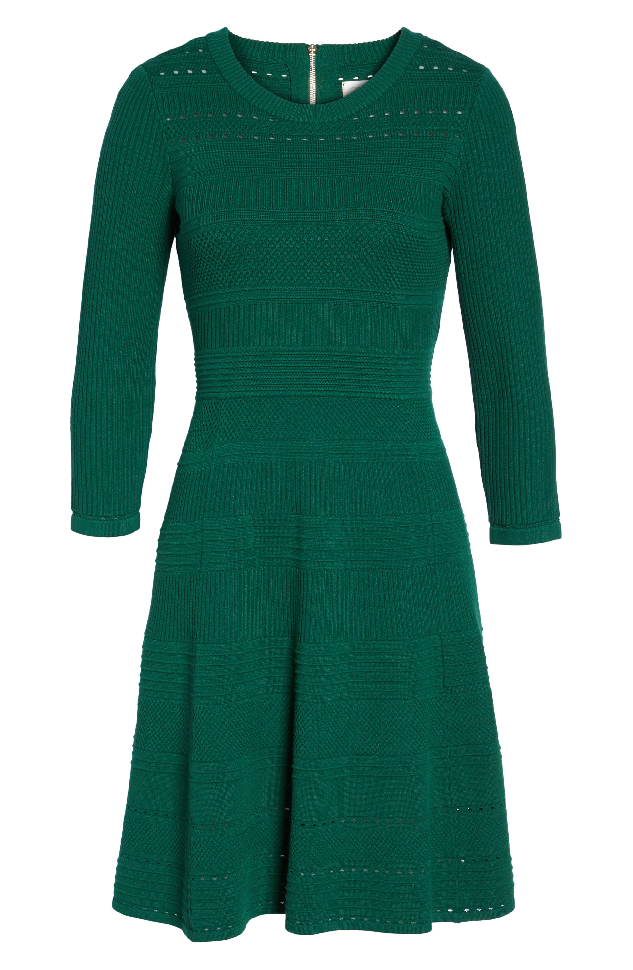 Fit & Flare Sweater Dress,                             Alternate thumbnail 22, color,