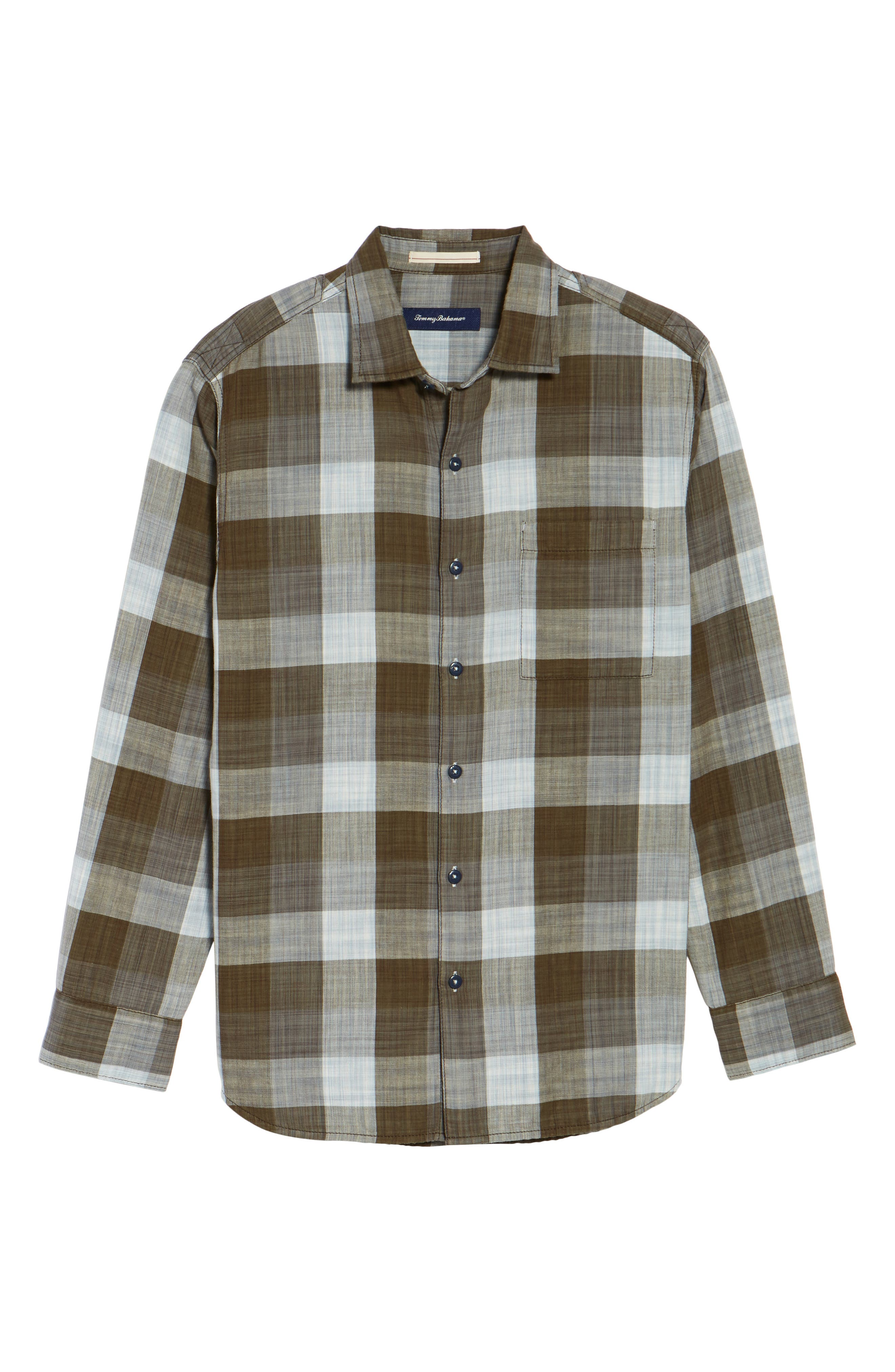 Dual Lux Standard Fit Check Sport Shirt,                             Alternate thumbnail 11, color,