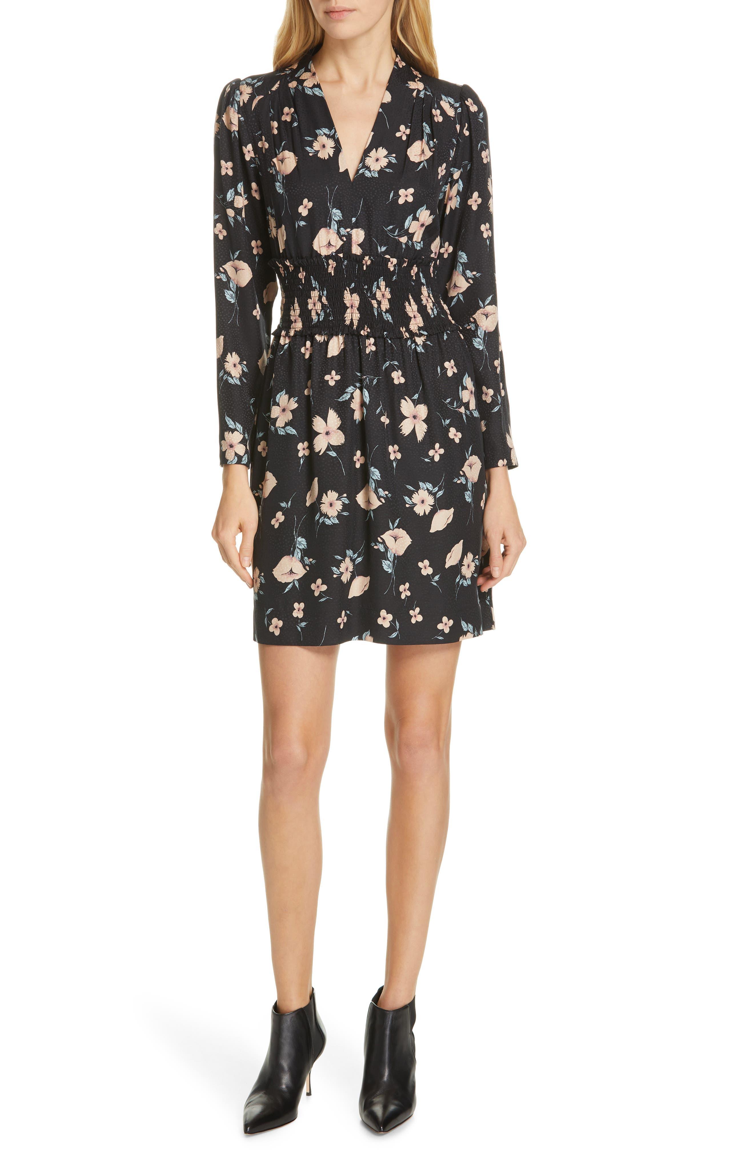 Rebecca Taylor Daniella Minidress, Black