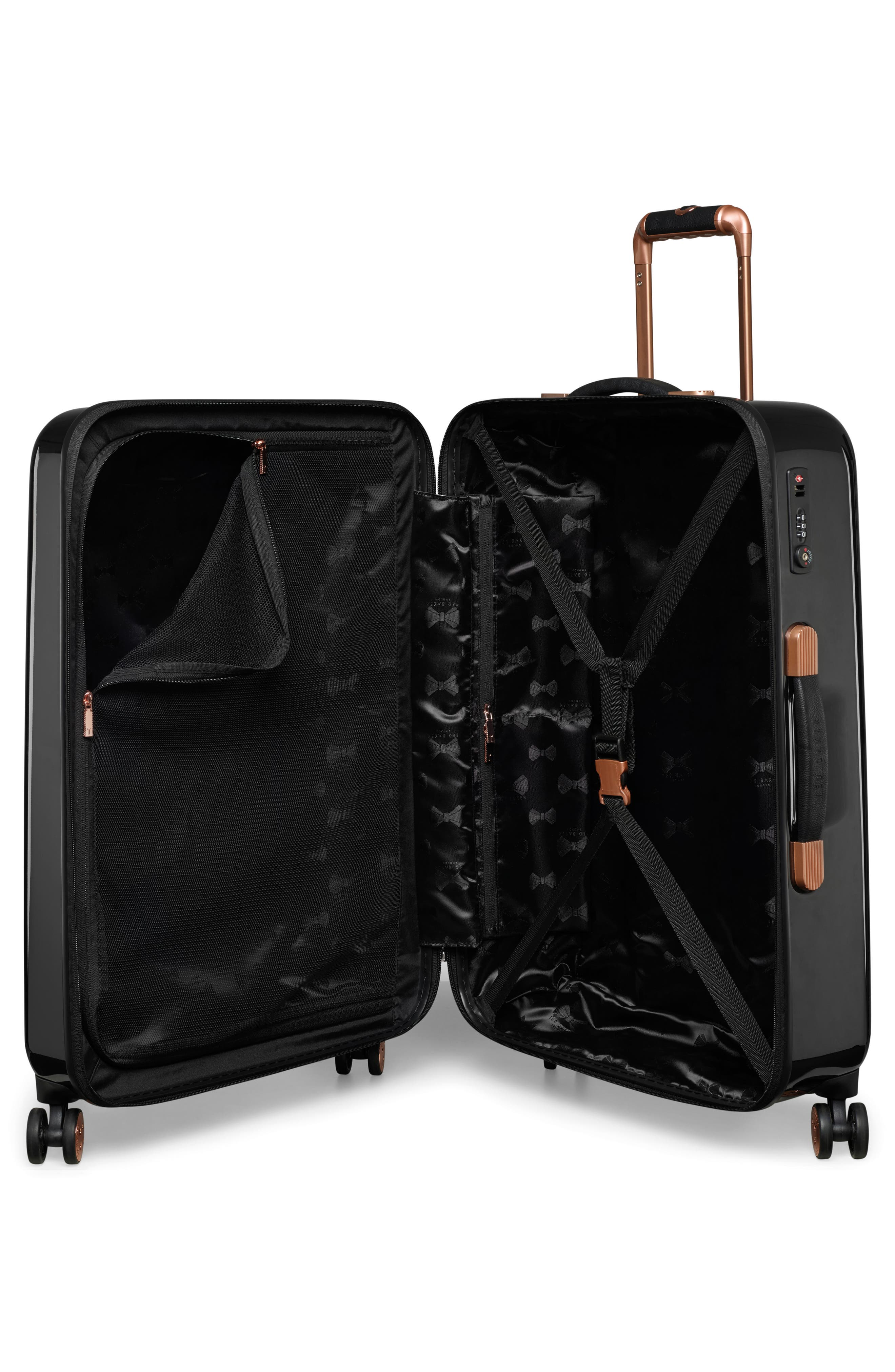 Medium Splendour Print 28-Inch Hard Shell Spinner Suitcase,                             Alternate thumbnail 2, color,                             BLACK