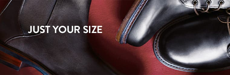 Just your size. Men's extended-size shoes.