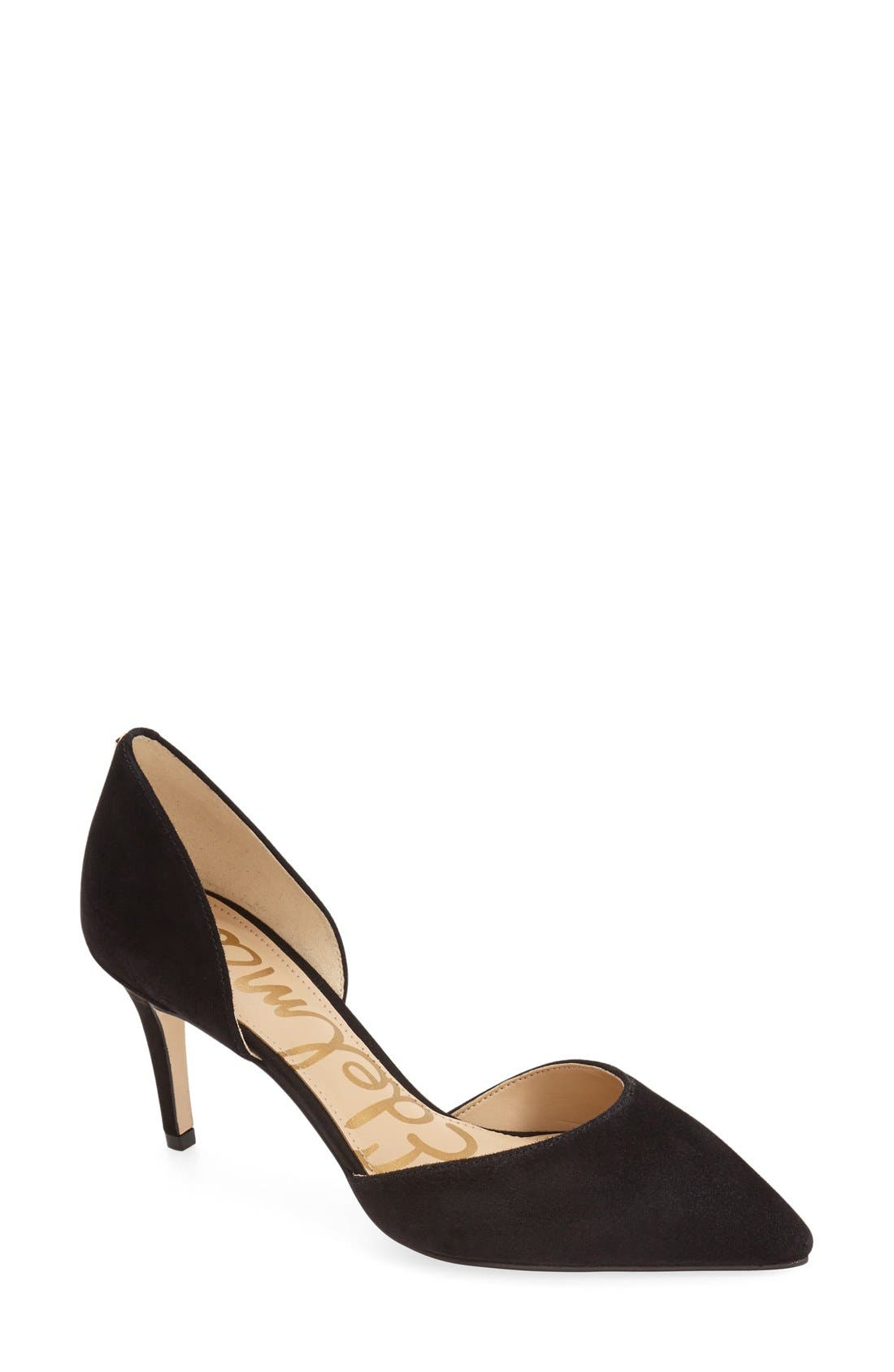 'Telsa' d'Orsay Pointy Toe Pump,                             Main thumbnail 4, color,