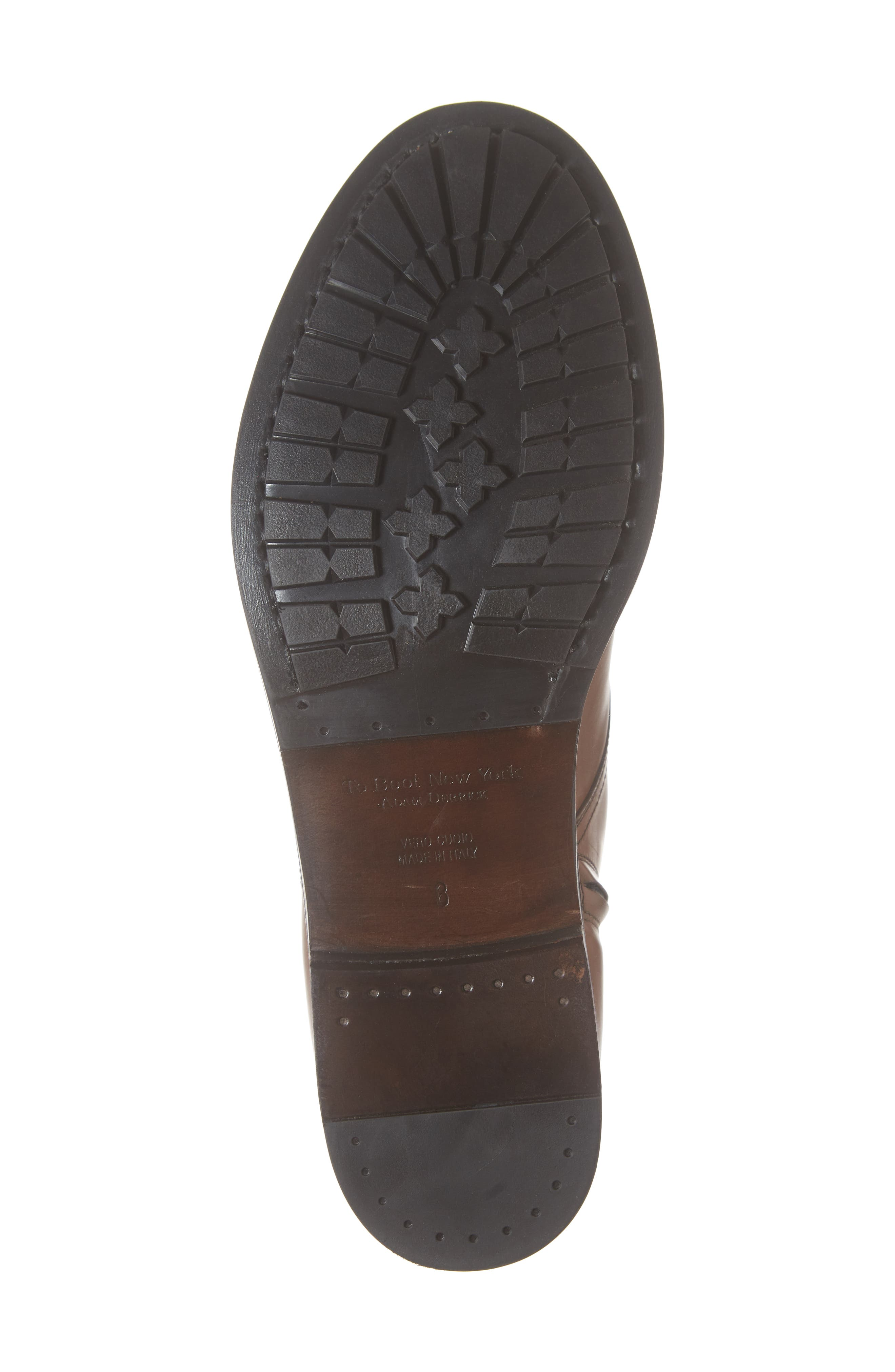 Concord Cap Toe Boot,                             Alternate thumbnail 6, color,                             BROWN LEATHER