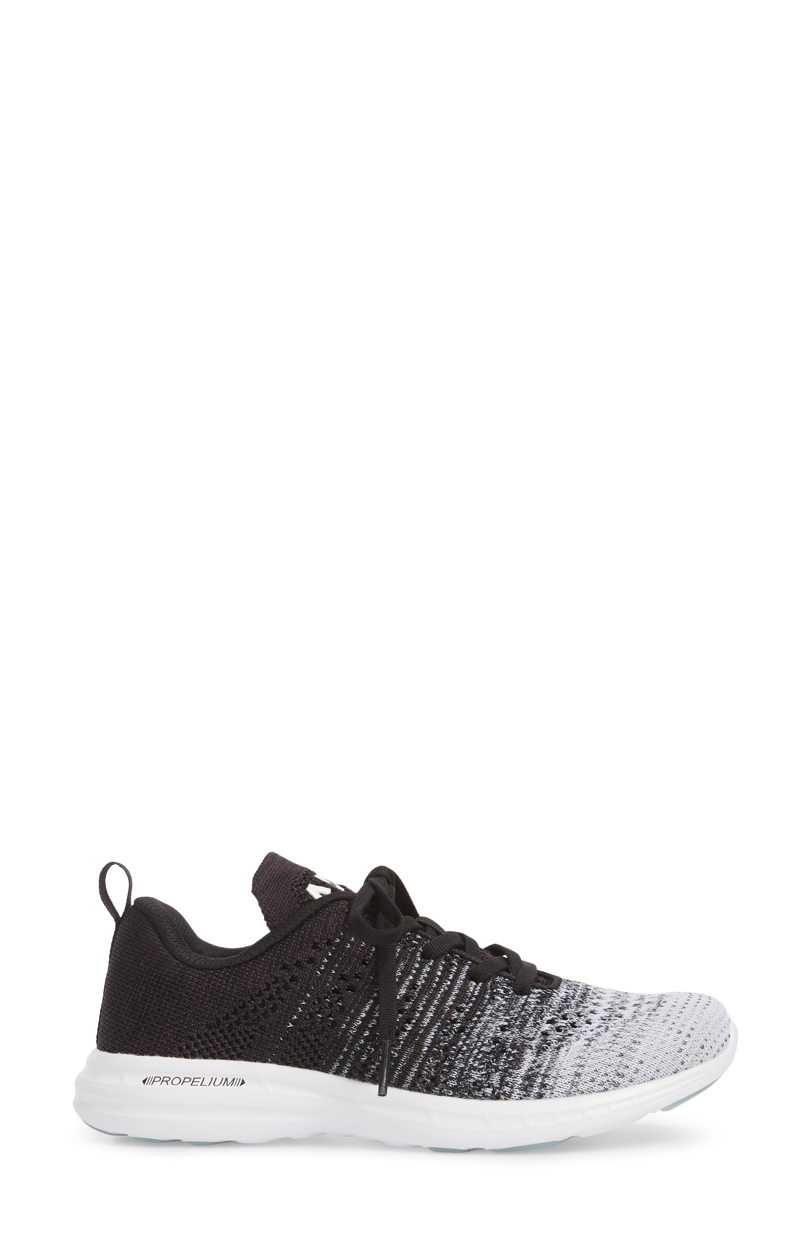 'Techloom Pro' Running Shoe,                             Alternate thumbnail 3, color,                             WHITE/ HEATHER GREY/ BLACK