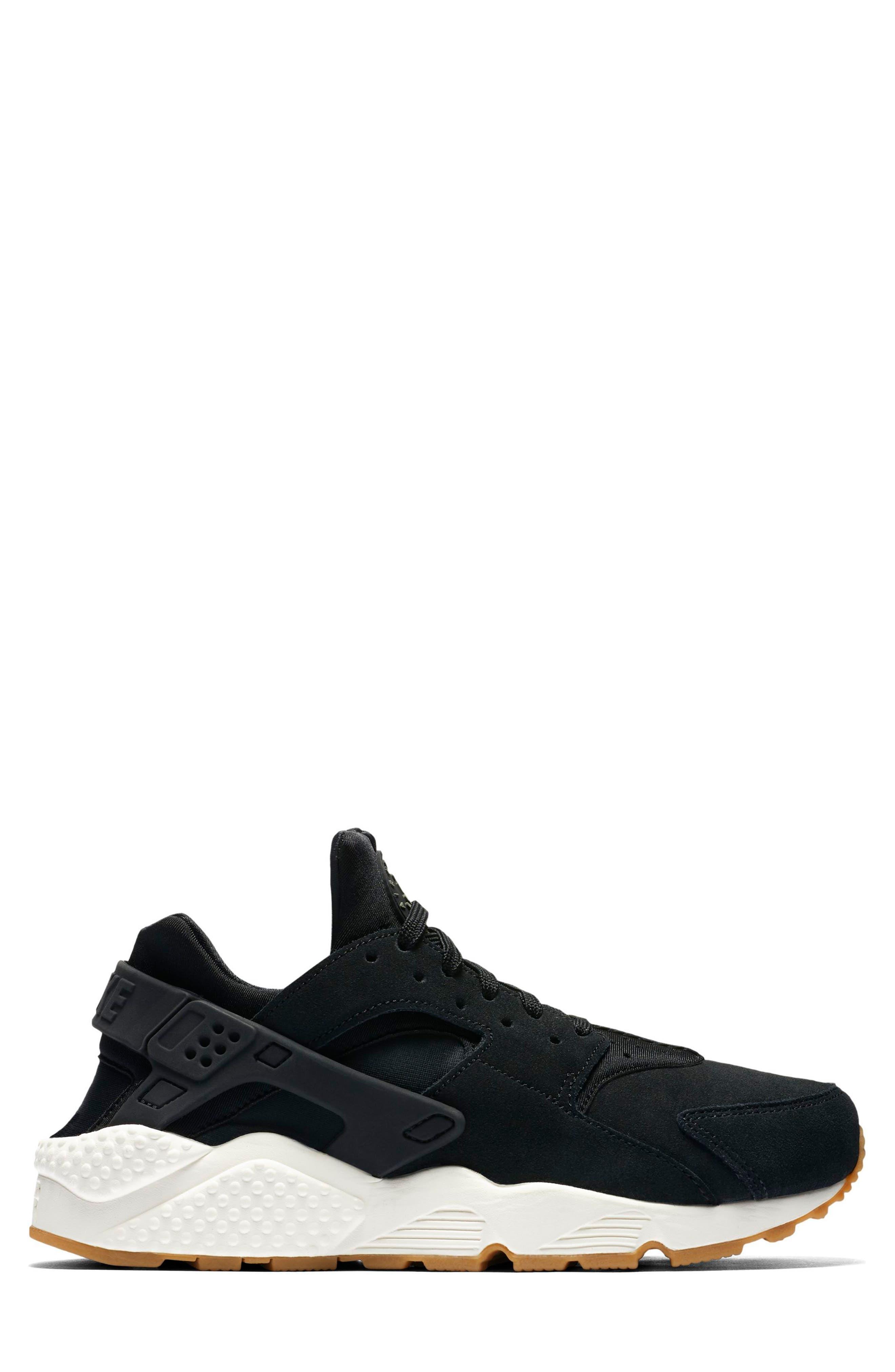 Air Huarache Run SD Sneaker,                             Alternate thumbnail 3, color,                             001