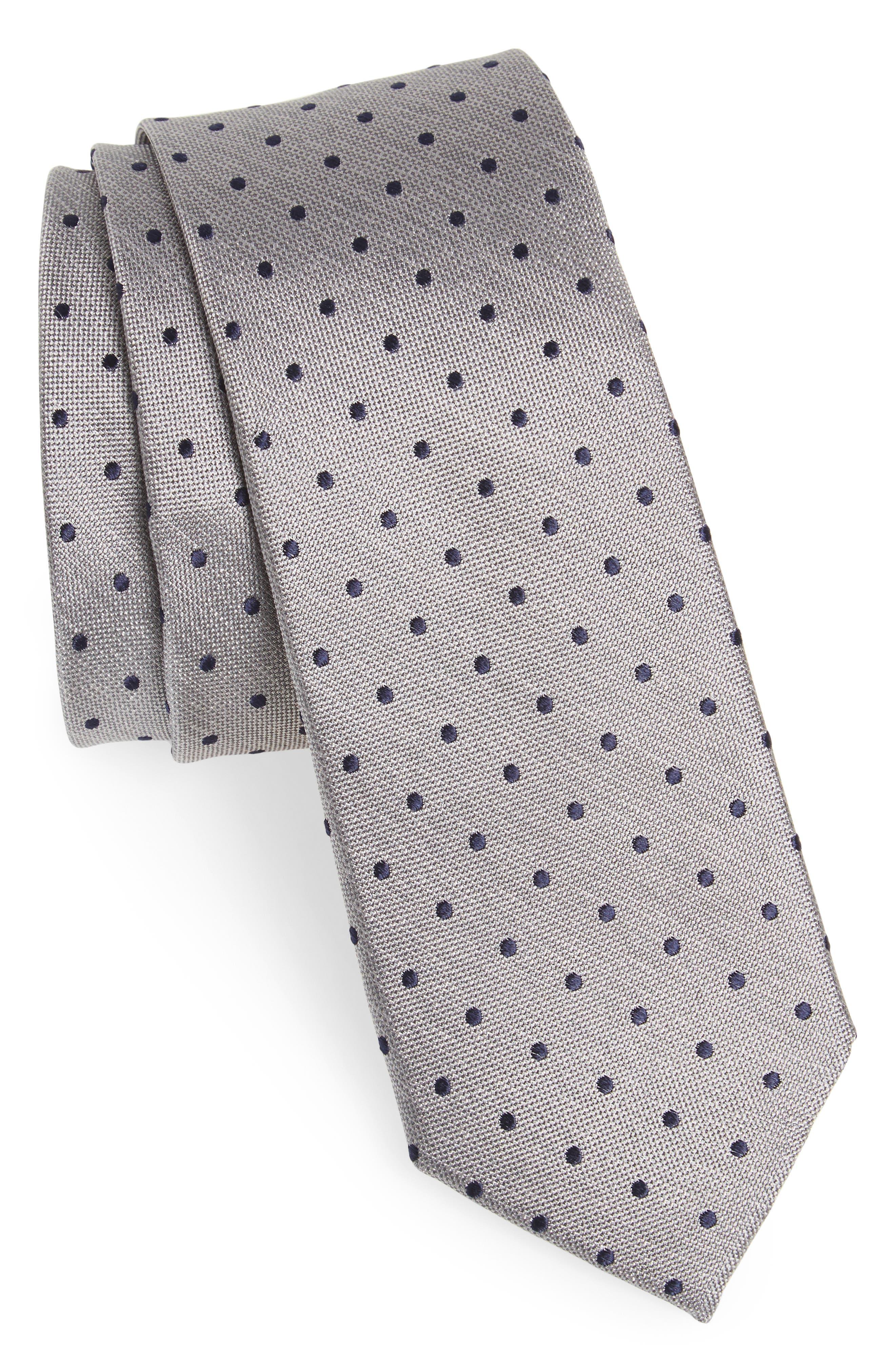 Whitney Dot Silk Tie,                         Main,                         color, 020