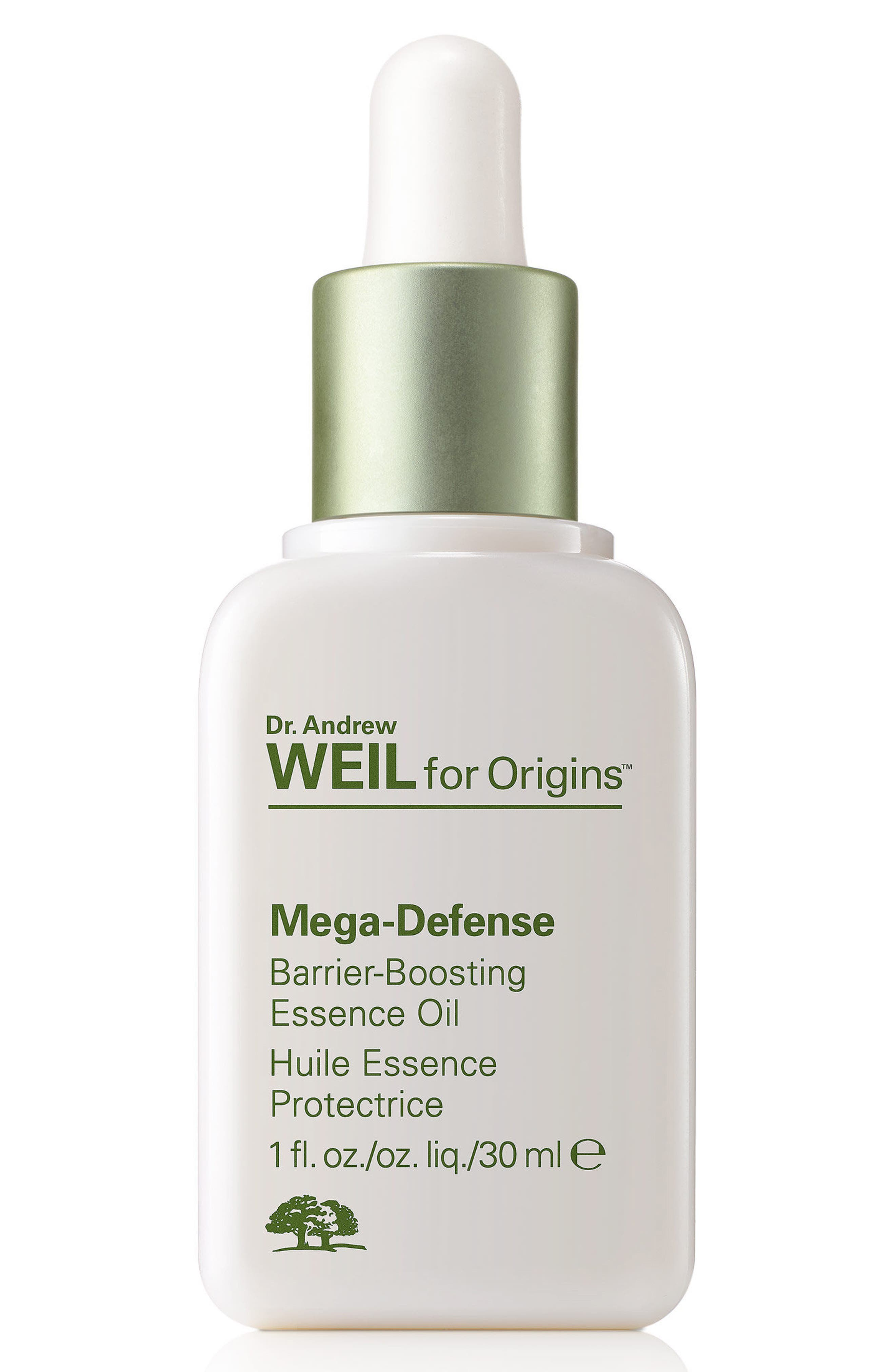 Dr. Andrew Weil for Origins<sup>™</sup> Mega-Defense Barrier-Boosting Essence Oil,                             Main thumbnail 1, color,                             NO COLOR