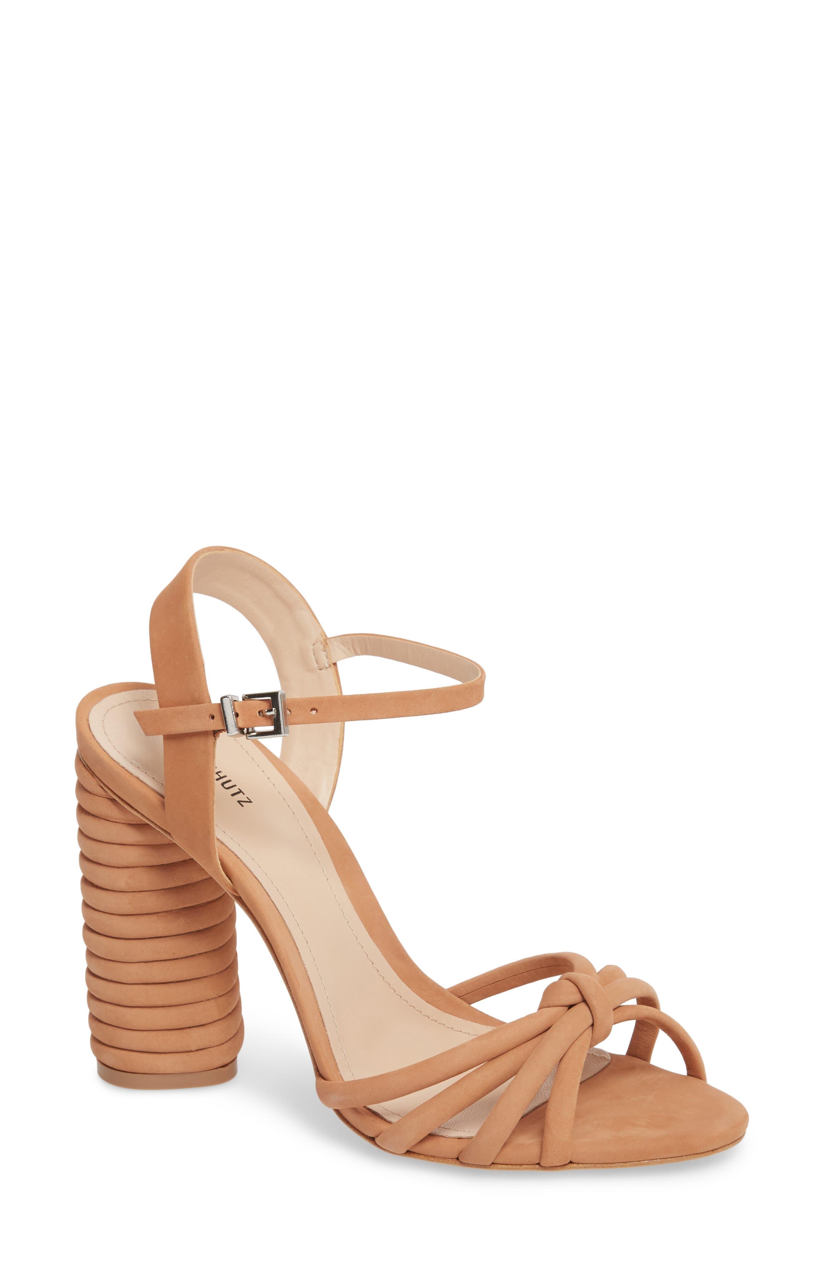 Paolla Column Heel Sandal,                         Main,                         color, TOASTED NUT