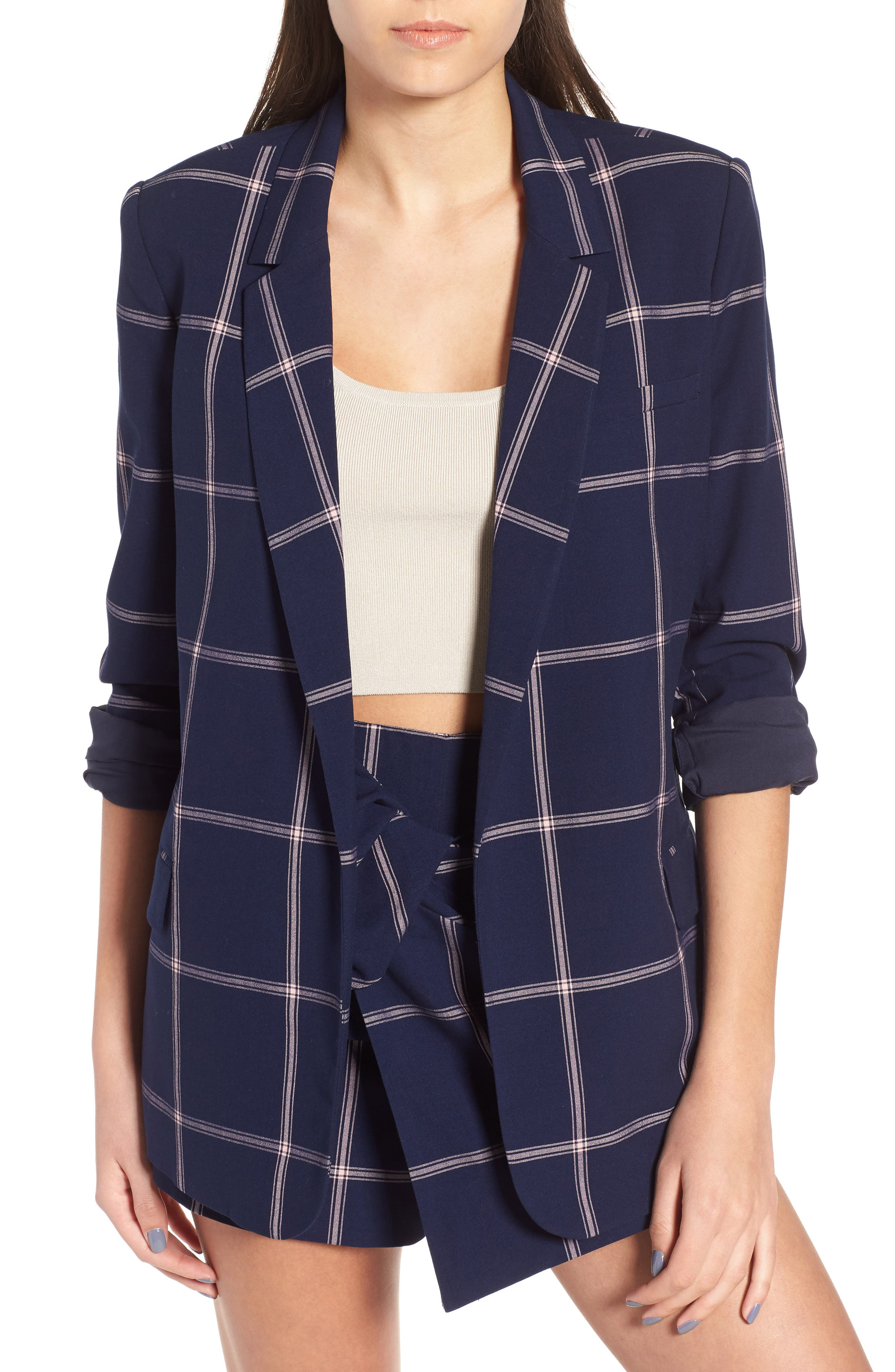 Woven Relaxed Fit Blazer,                             Main thumbnail 1, color,                             410