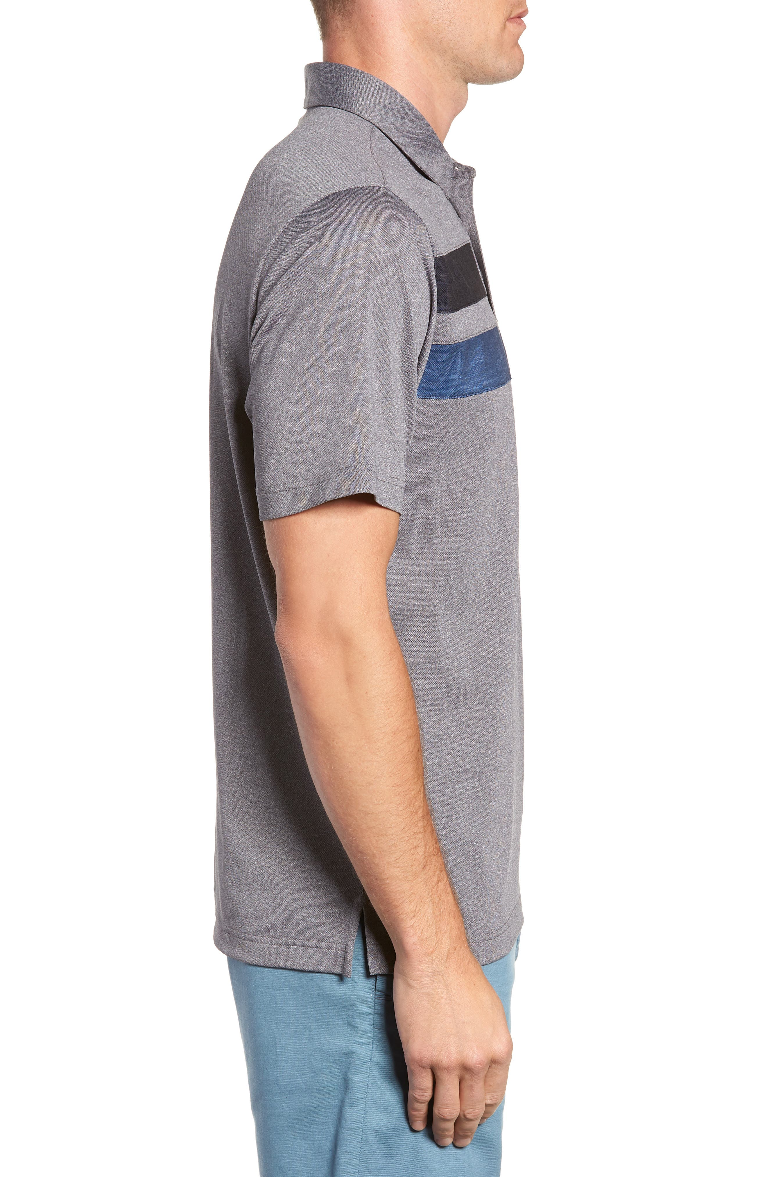 Big Six Regular Fit Polo,                             Alternate thumbnail 3, color,                             HEATHER GREY