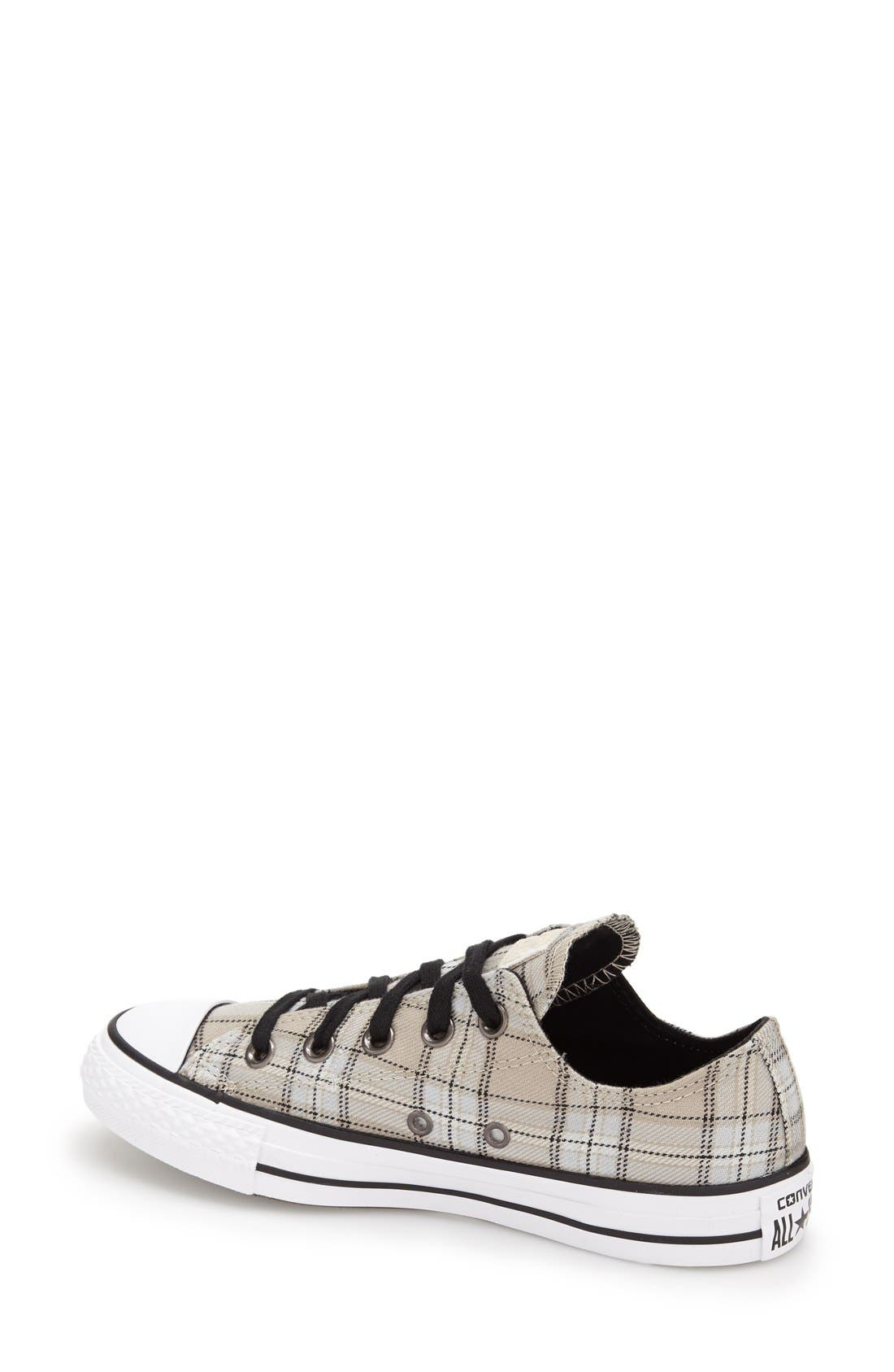 Chuck Taylor<sup>®</sup> All Star<sup>®</sup> Plaid Low Top Sneaker,                             Alternate thumbnail 4, color,                             250