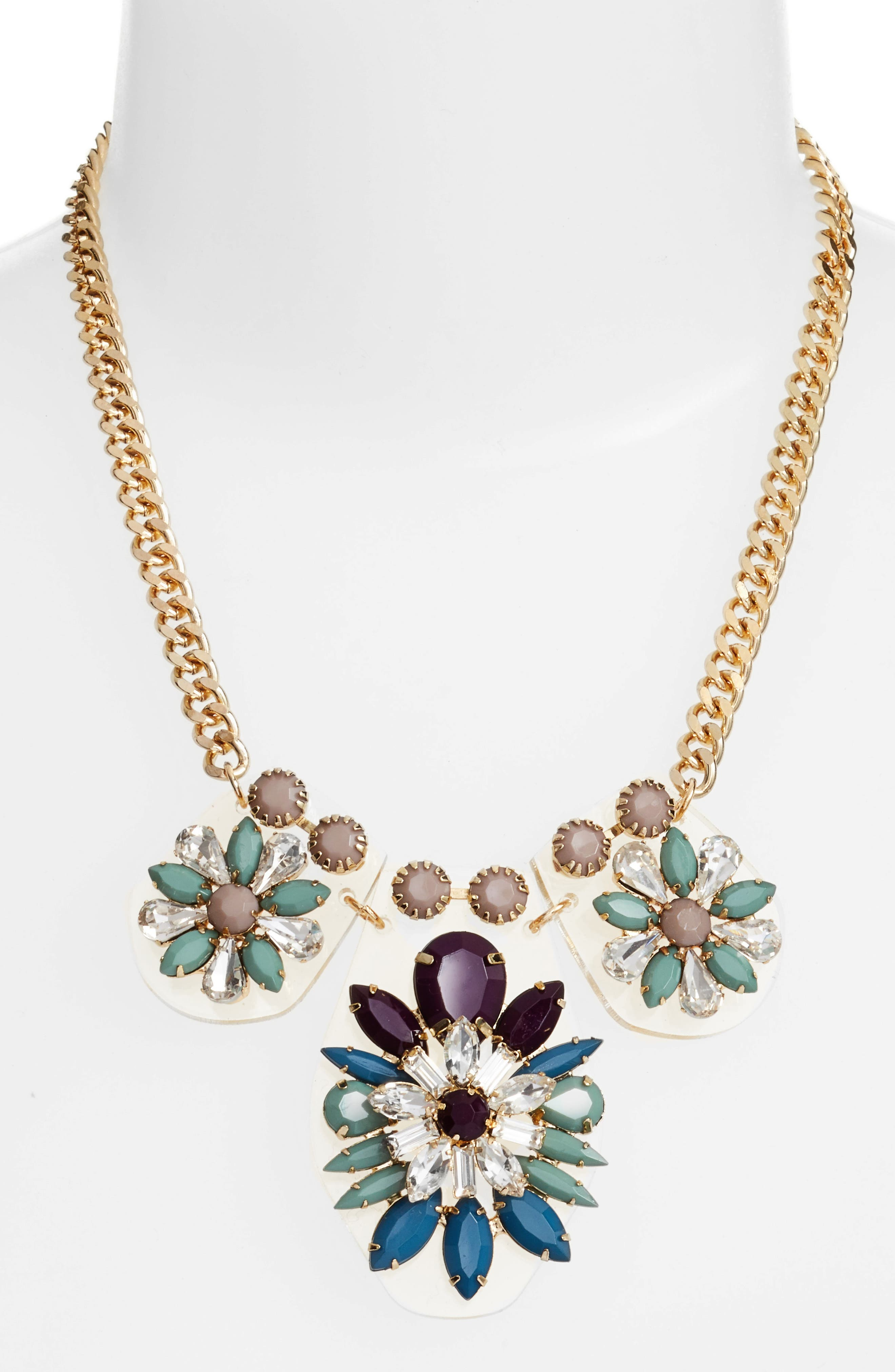 Cluster Statement Necklace,                             Alternate thumbnail 2, color,                             430