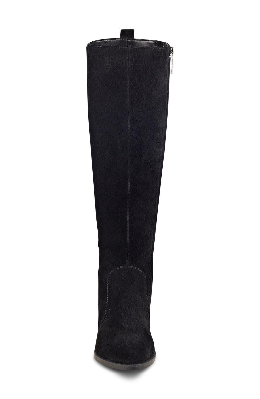 NINE WEST,                             'Nicolah' Tall Boot,                             Alternate thumbnail 3, color,                             001