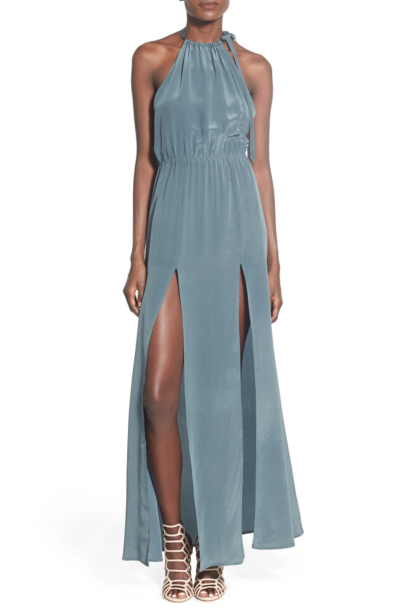 Stone Cold Fox \'Onyx\' Silk Gown | Nordstrom