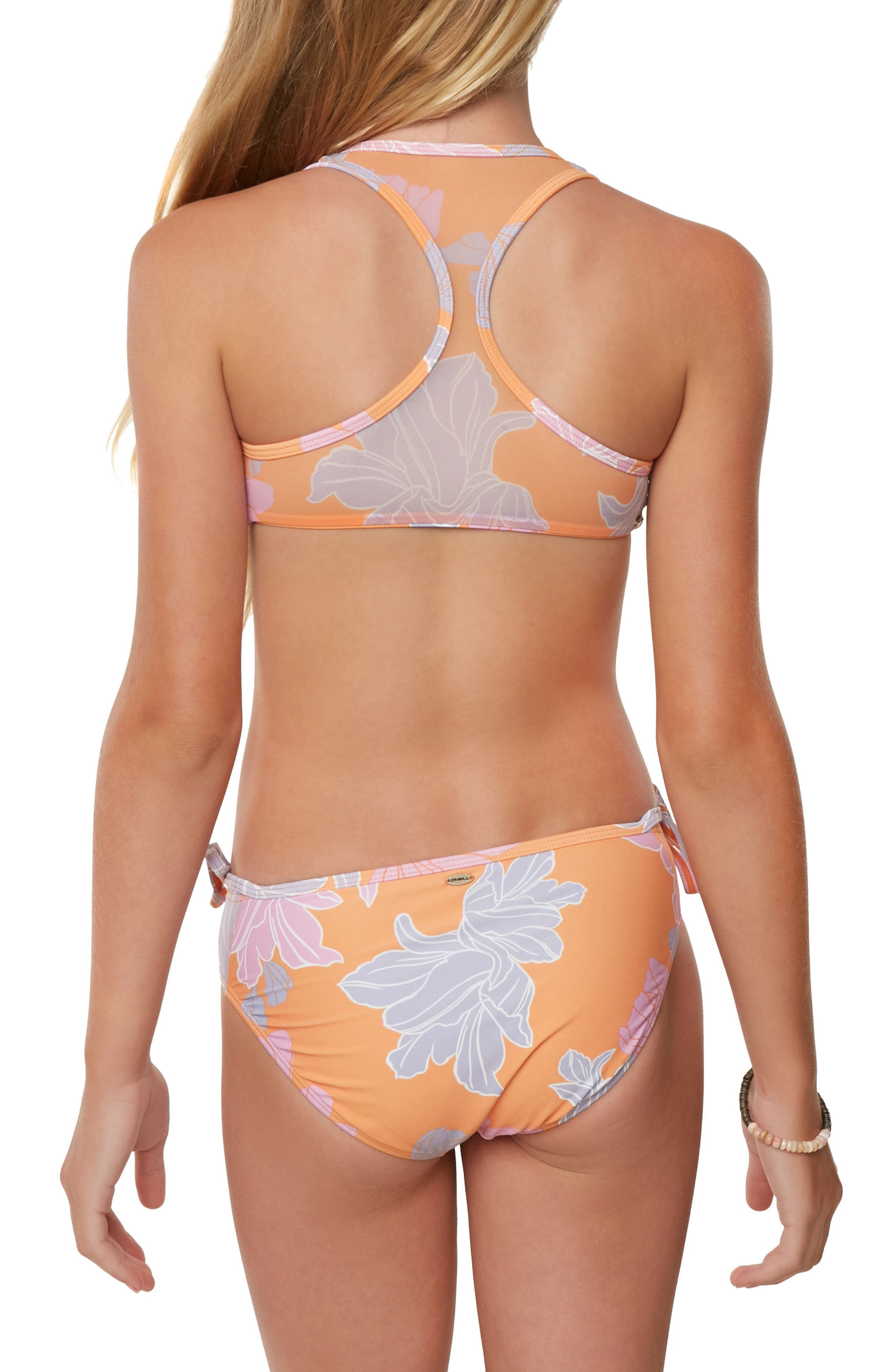 Zilla Floral Two-Piece Swimsuit,                             Alternate thumbnail 3, color,                             804