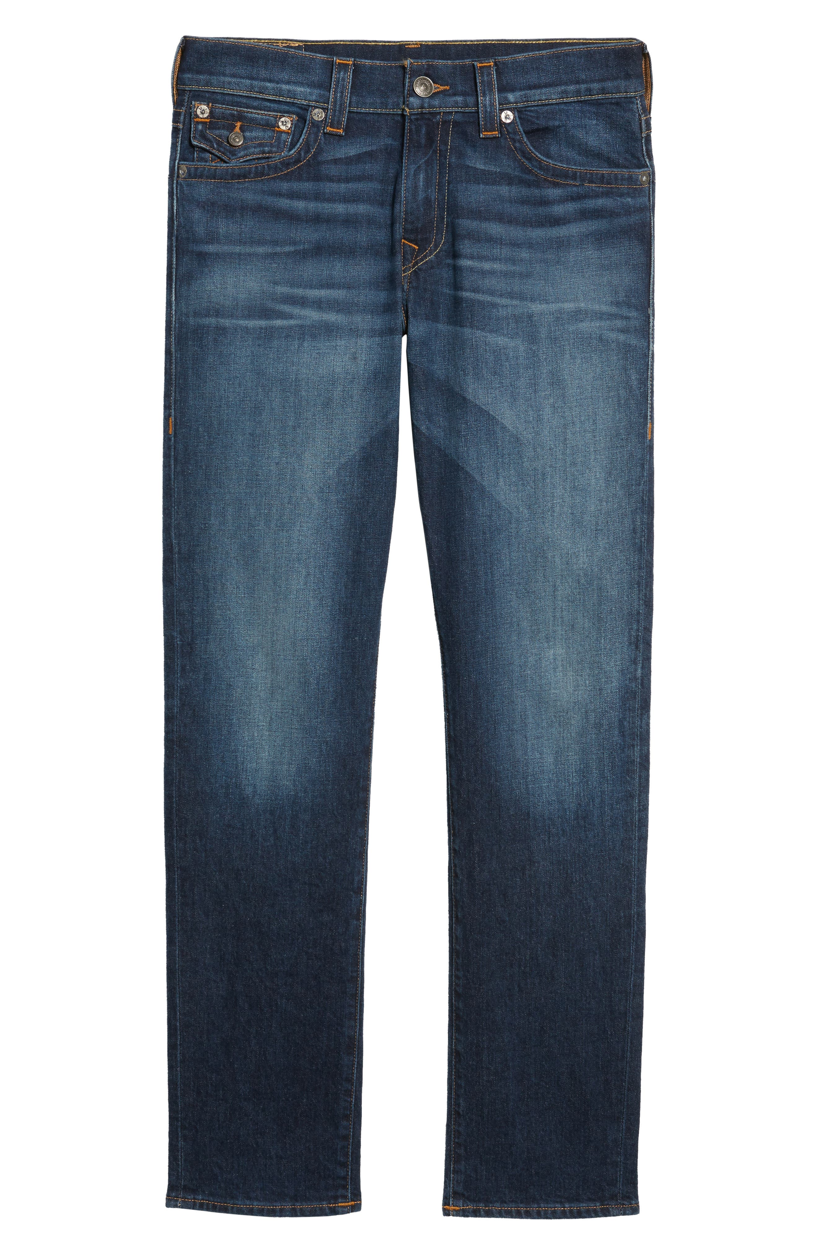 Geno Straight Leg Jeans,                             Alternate thumbnail 6, color,                             BLUE CASCADE