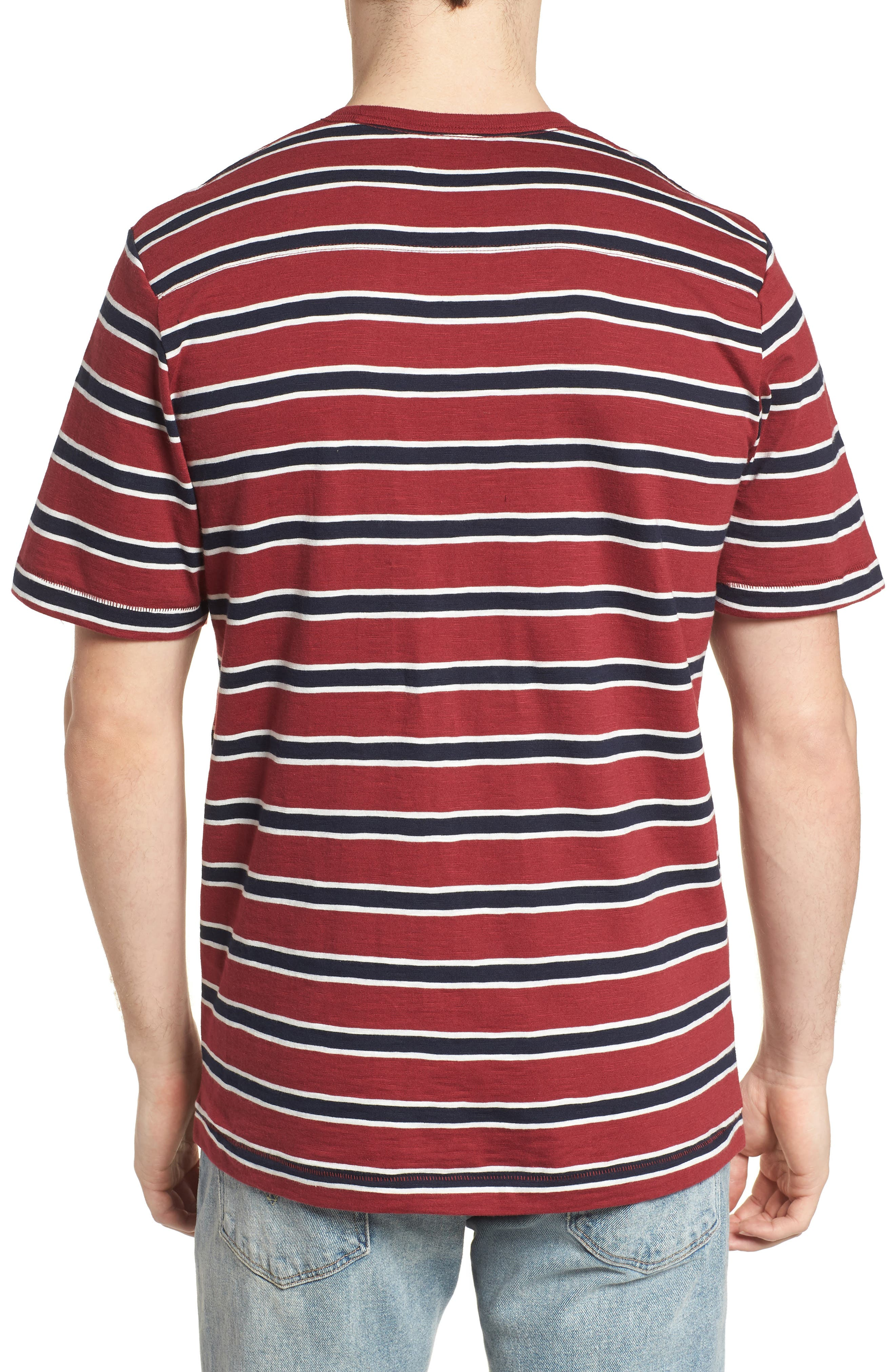 Old School Slim Fit Stripe T-Shirt,                             Alternate thumbnail 2, color,                             603