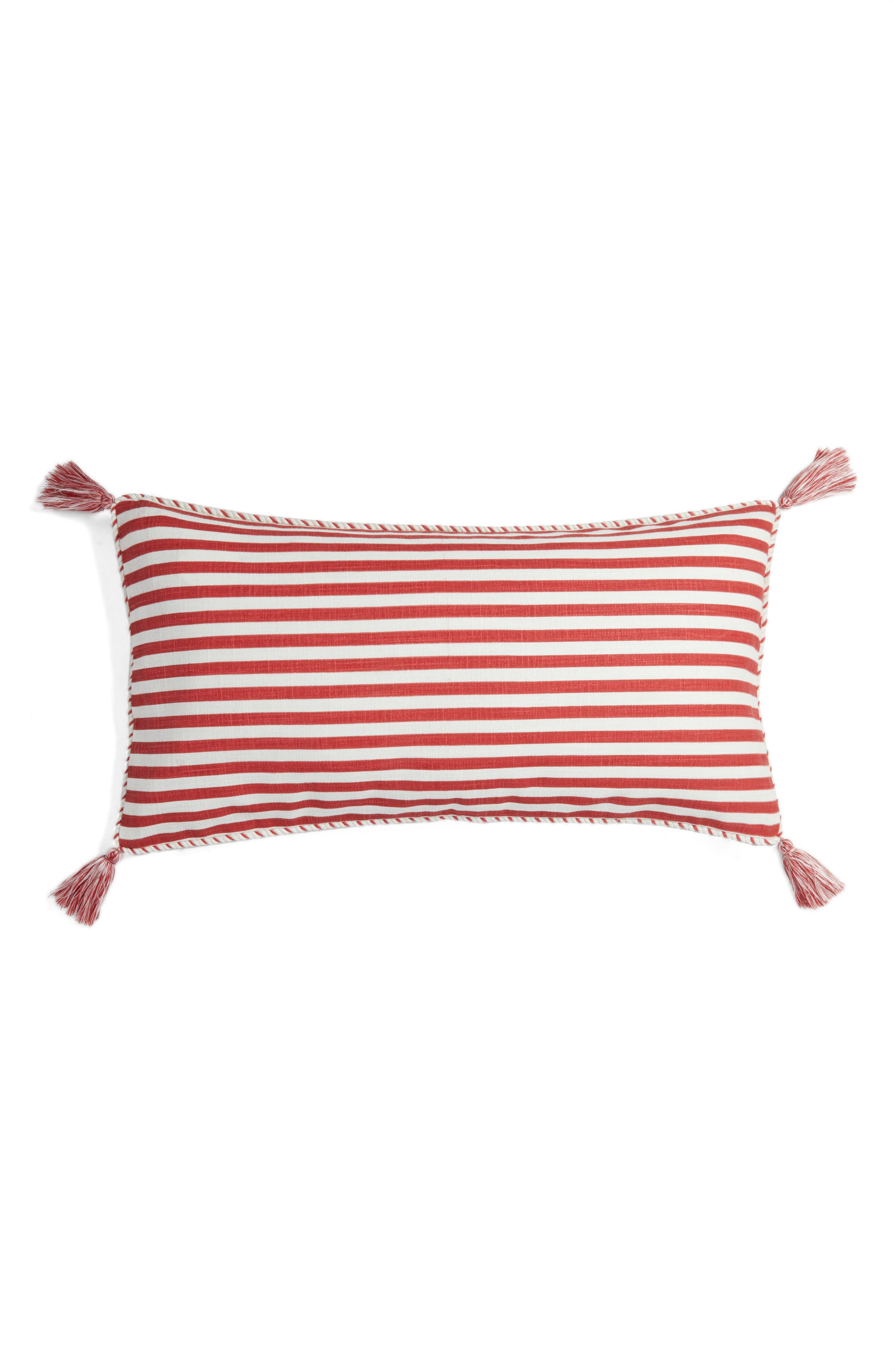 Stripe Tassel Accent Pillow,                             Alternate thumbnail 2, color,                             950