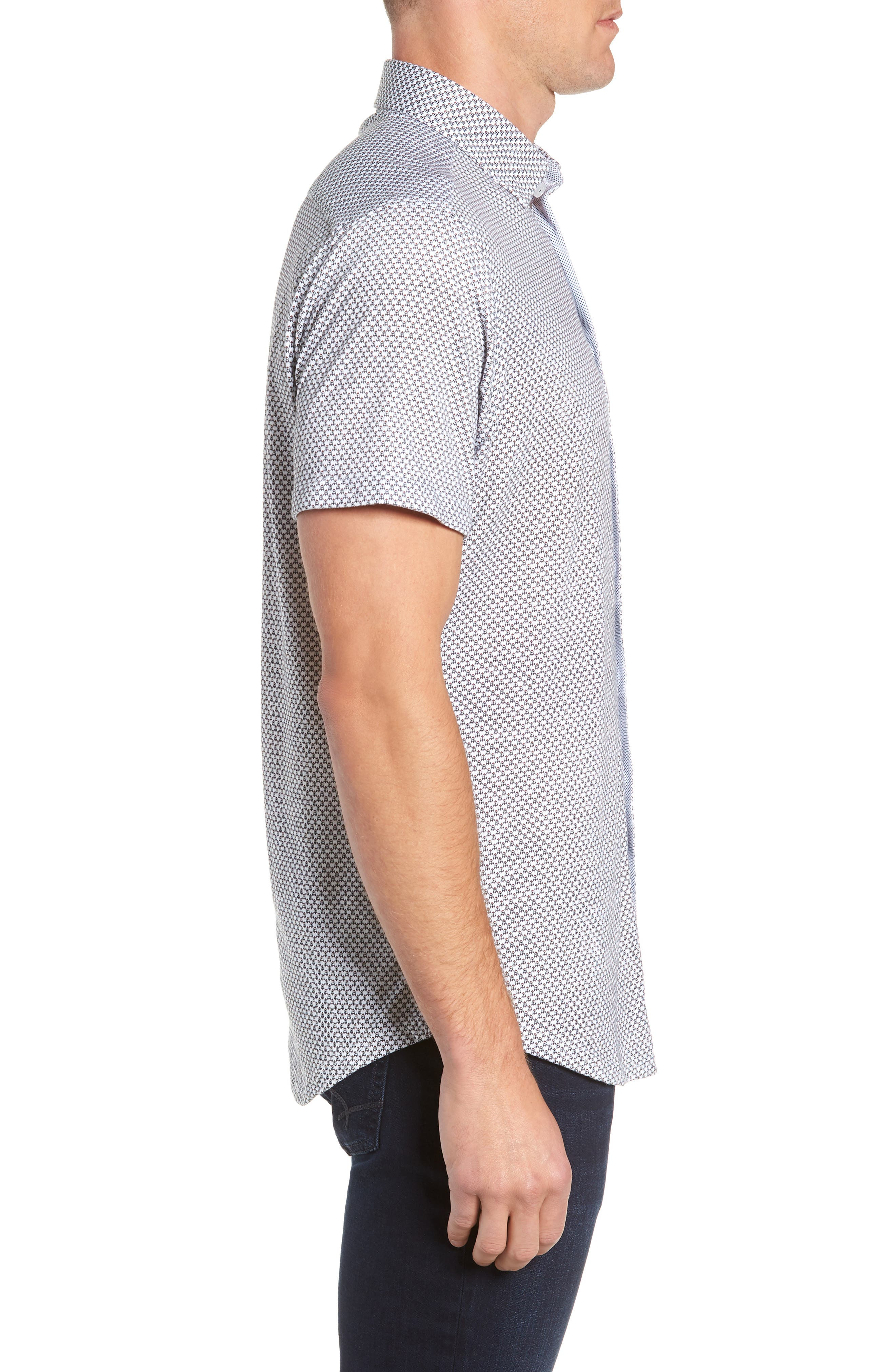 Regular Fit Sport Shirt,                             Alternate thumbnail 4, color,                             WHITE