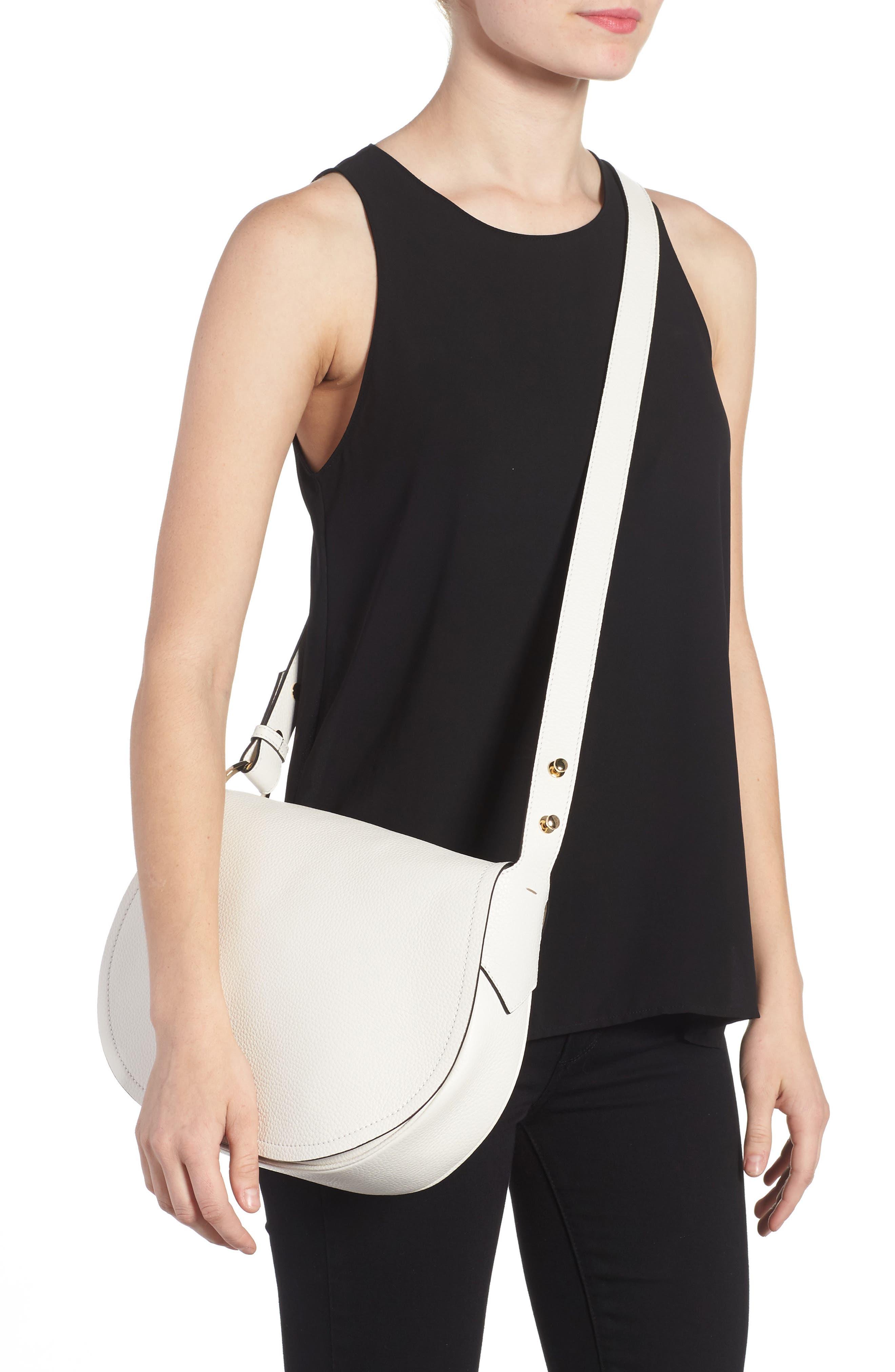 Small Valeria Leather Crossbody Bag,                             Alternate thumbnail 5, color,