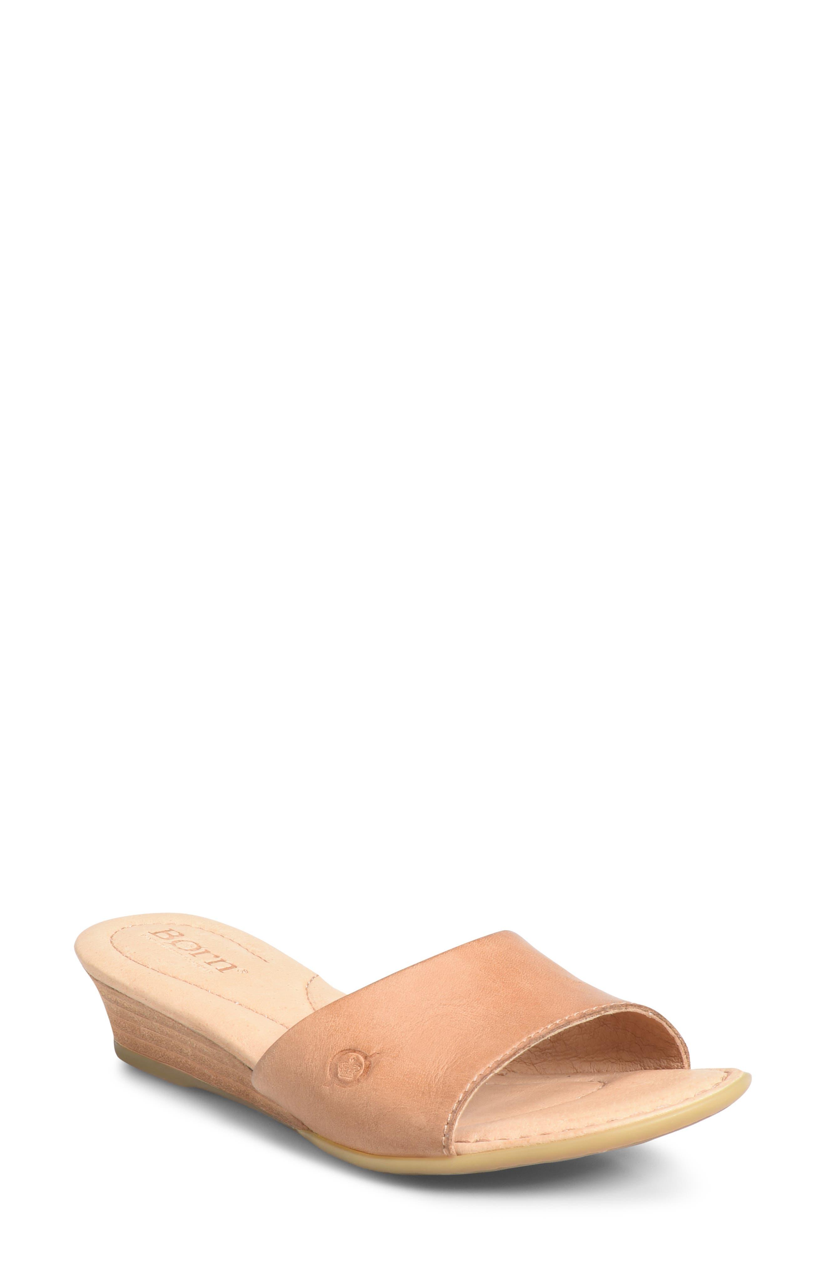 B?rn Shasta Wedge Slide Sandal, Brown