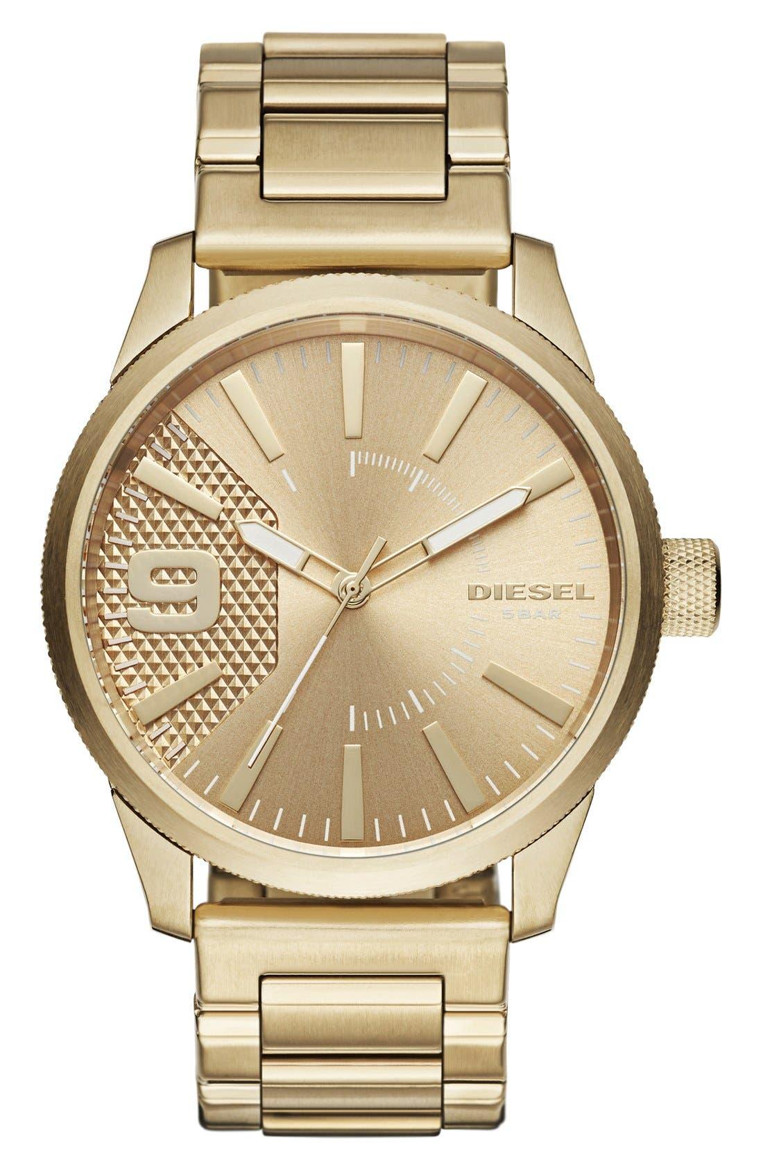 The Rasp Bracelet Watch, 46mm,                             Main thumbnail 1, color,                             GOLD